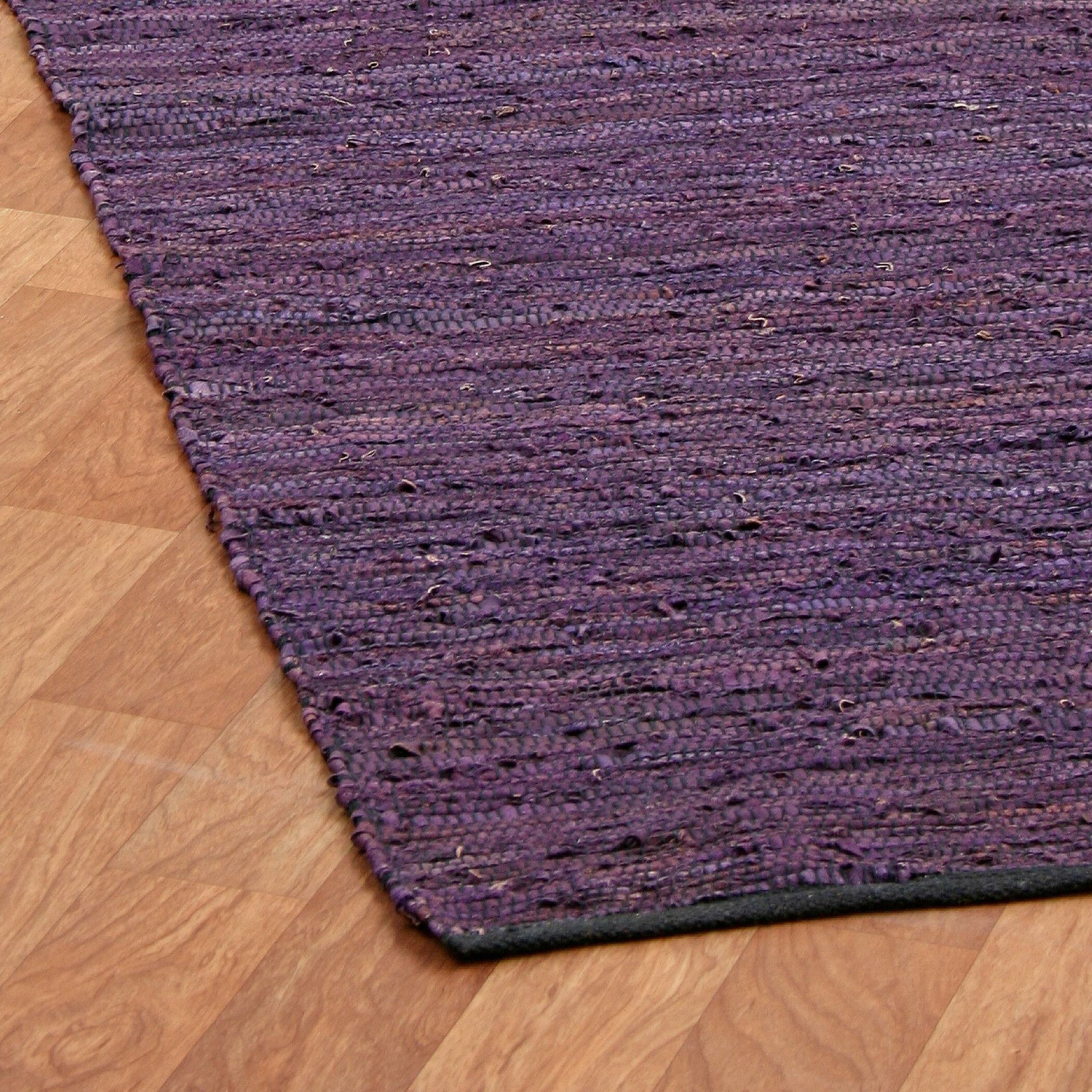 Xl Purple Rug: St. Croix Matador Leather Chindi Purple Rug & Reviews