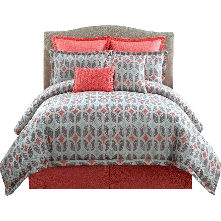 Clairebella bermuda 9 piece comforter set reviews wayfair for Clairebella