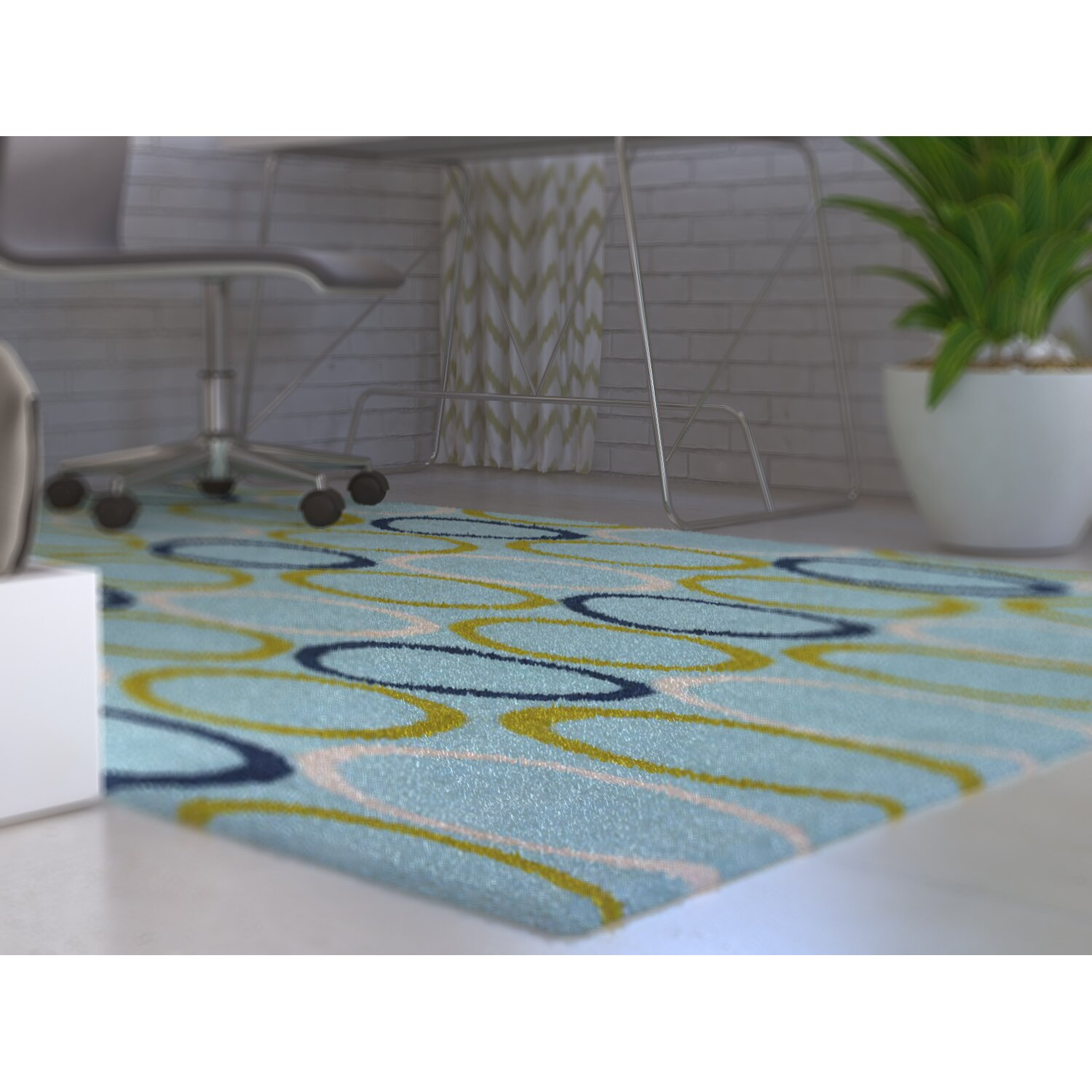Clairebella Of Clairebella Madison Rug In Aqua Navy Wayfair