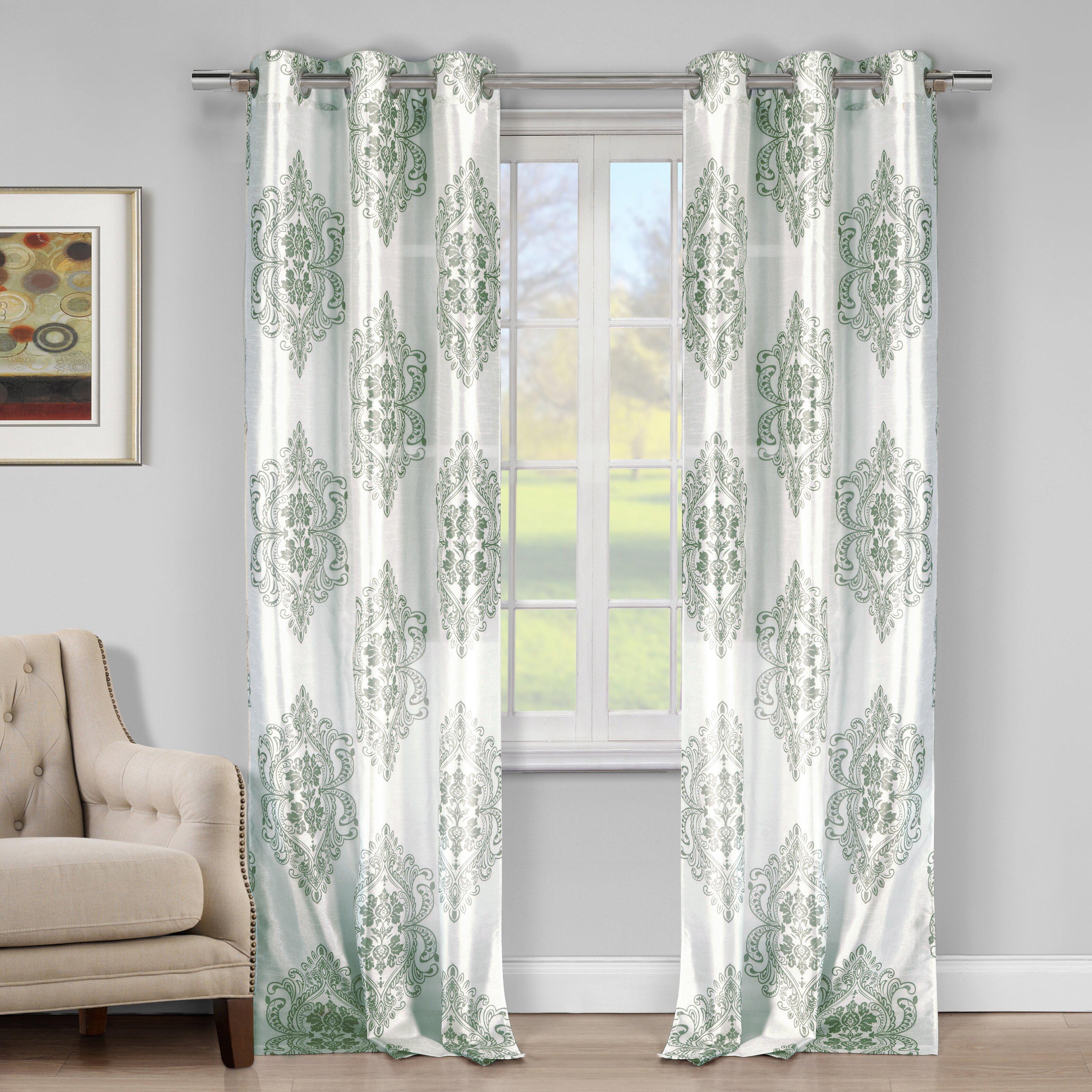 Dr International Bellissimo Faux Silk Grommet Curtain Panels Reviews Wayfair