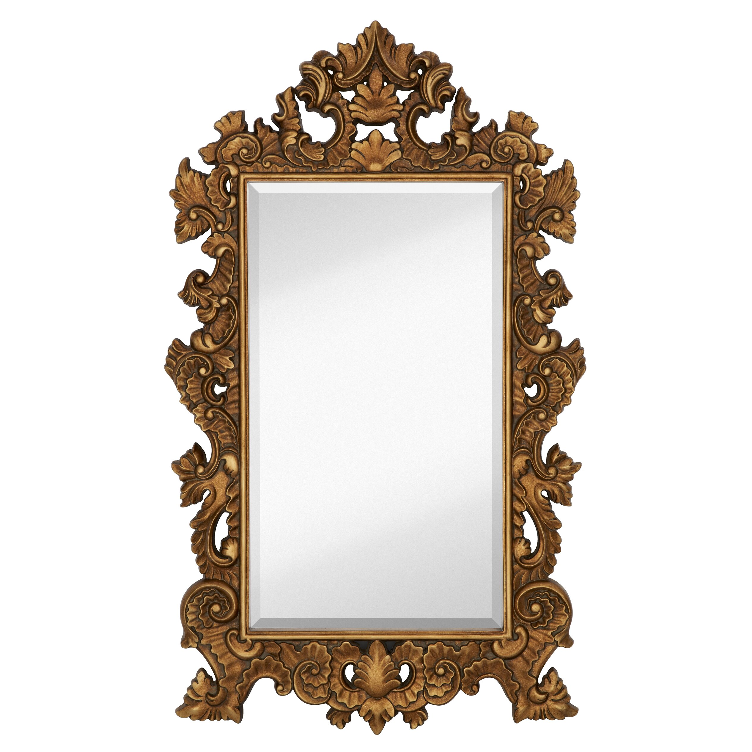 Majestic mirror tall rectangle traditional accent mirror for Traditional mirror