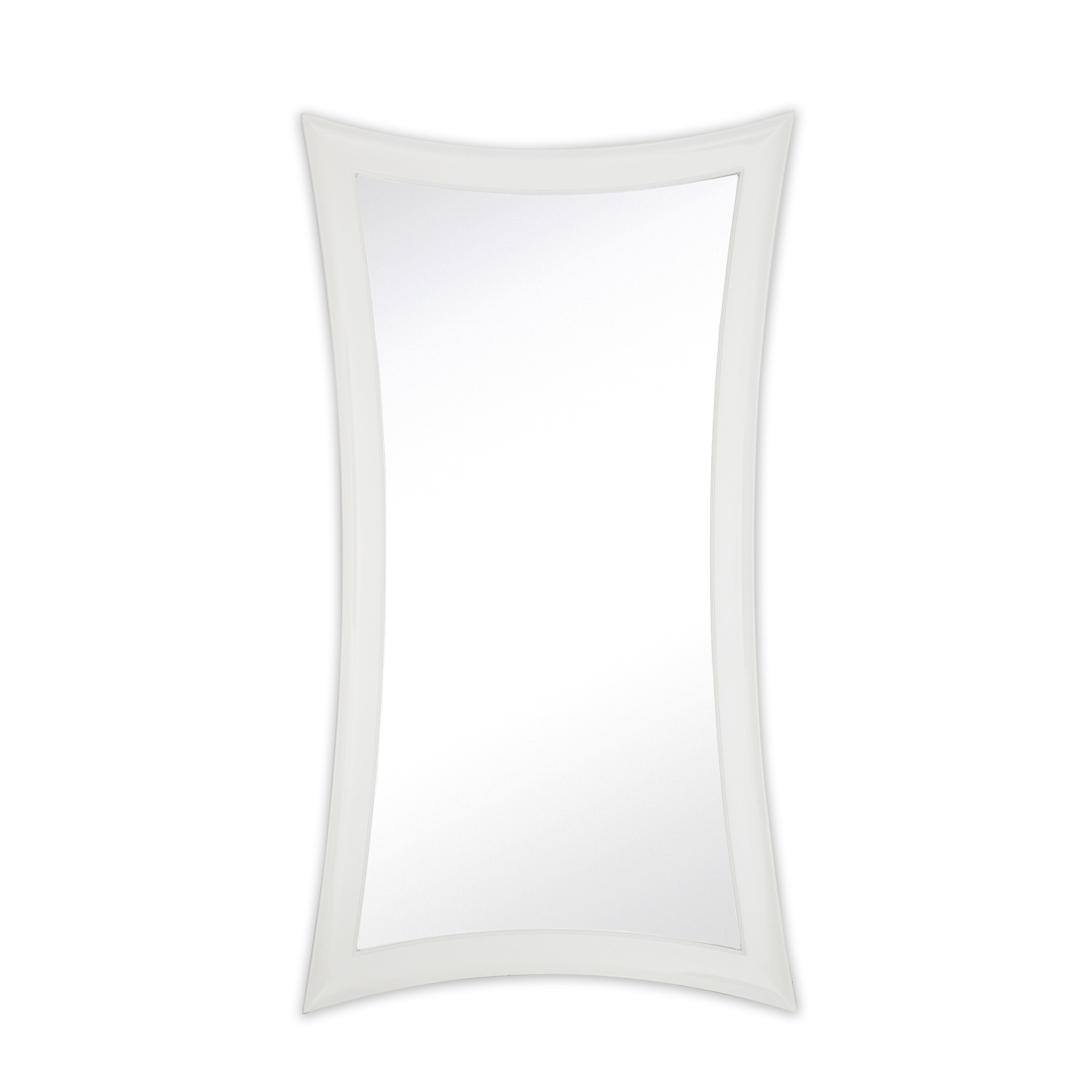 Majestic mirror large contemporary warped modern white for Large contemporary mirrors