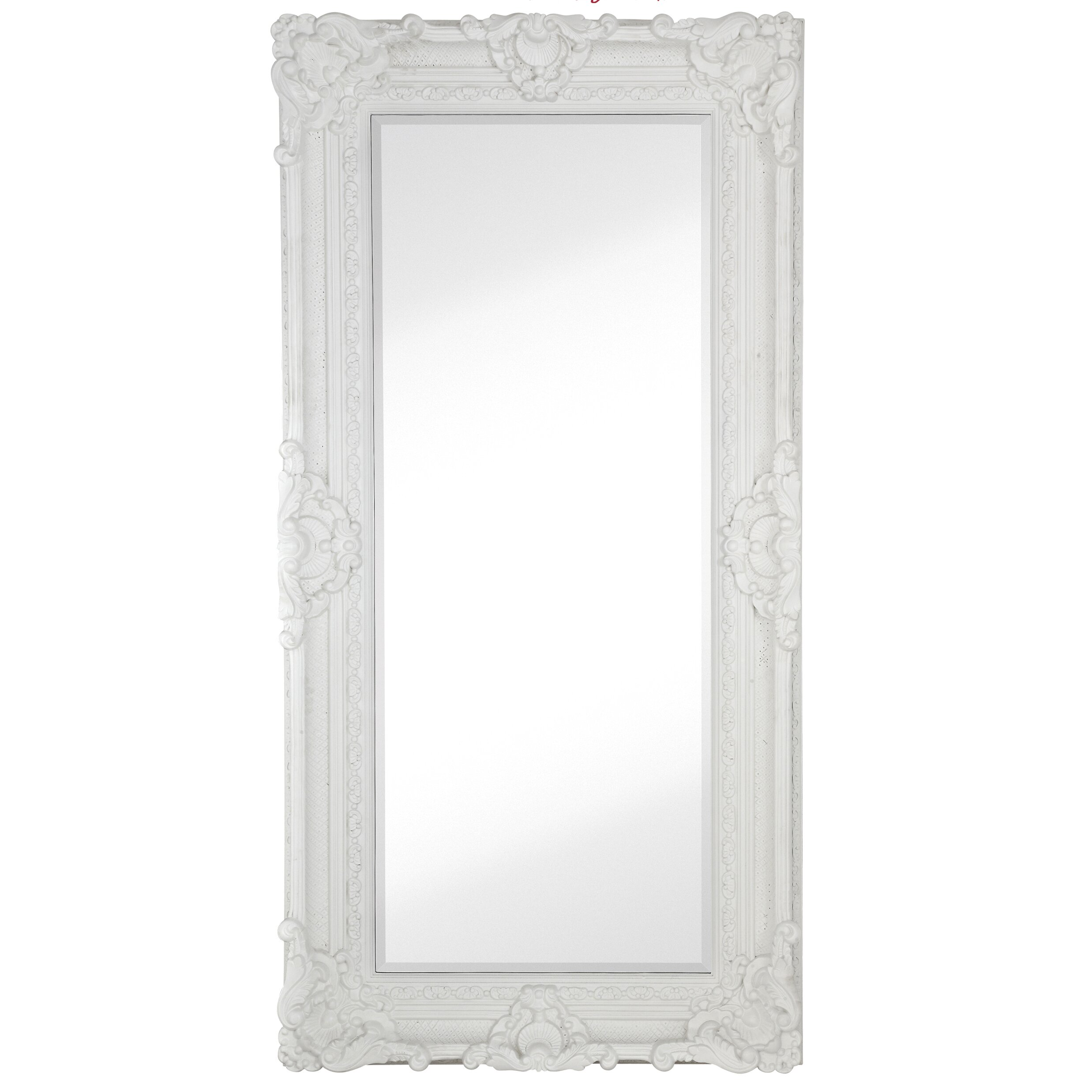 Majestic mirror large traditional white rectangular for White tall wall mirror
