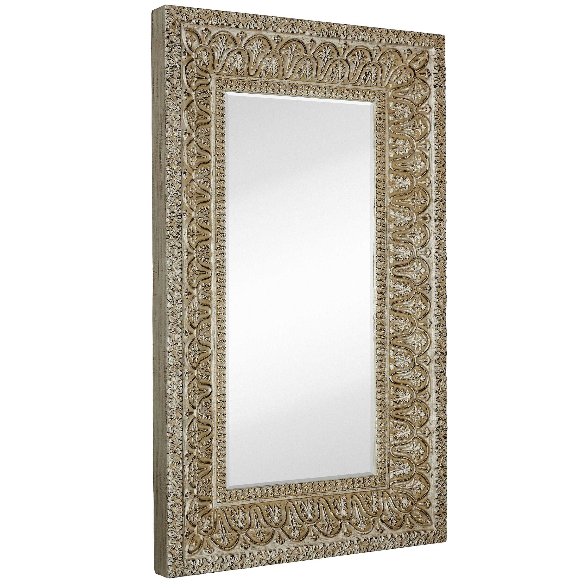 Majestic mirror full length beveled glass wall mirror for Full length glass mirror