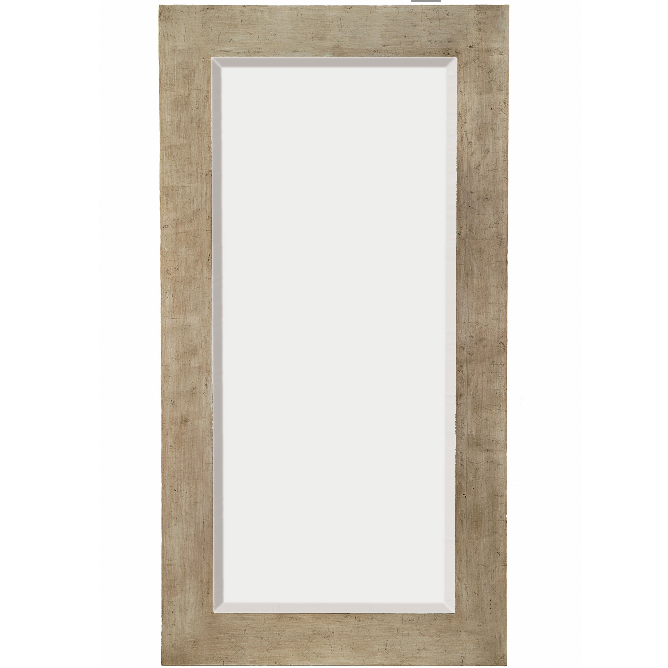 Majestic mirror tall rectangular silver sleek beveled for Tall framed mirror