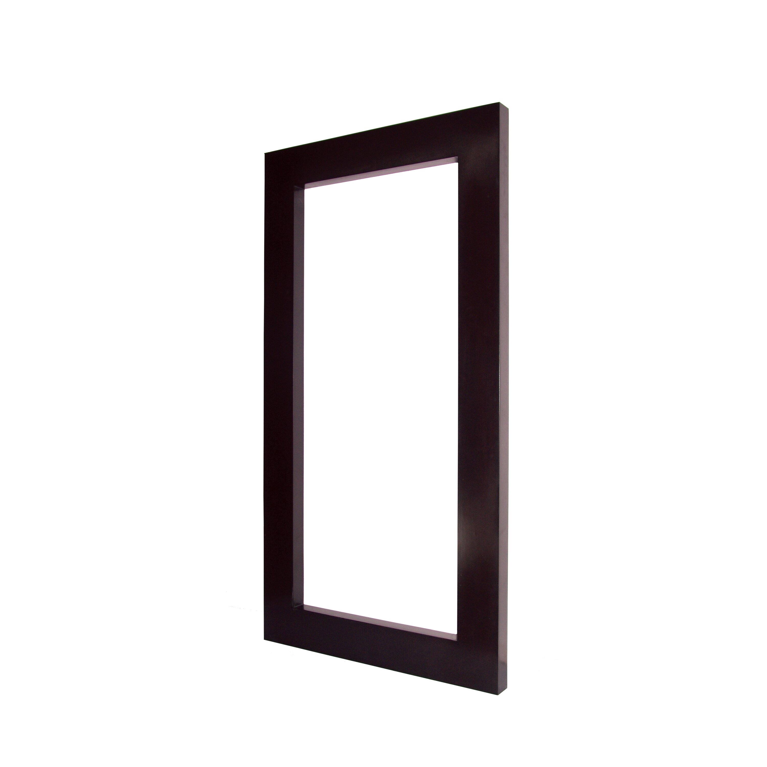 Majestic mirror large rectangular dark brown contemporary for Large contemporary mirrors
