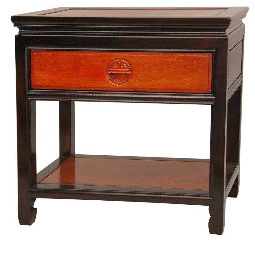 Oriental furniture 1 drawer nightstand reviews wayfair for I furniture reviews