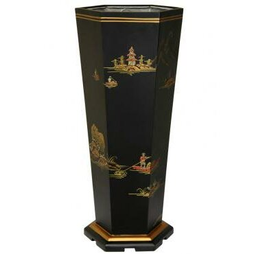 oriental furniture landscape umbrella stand reviews wayfair. Black Bedroom Furniture Sets. Home Design Ideas