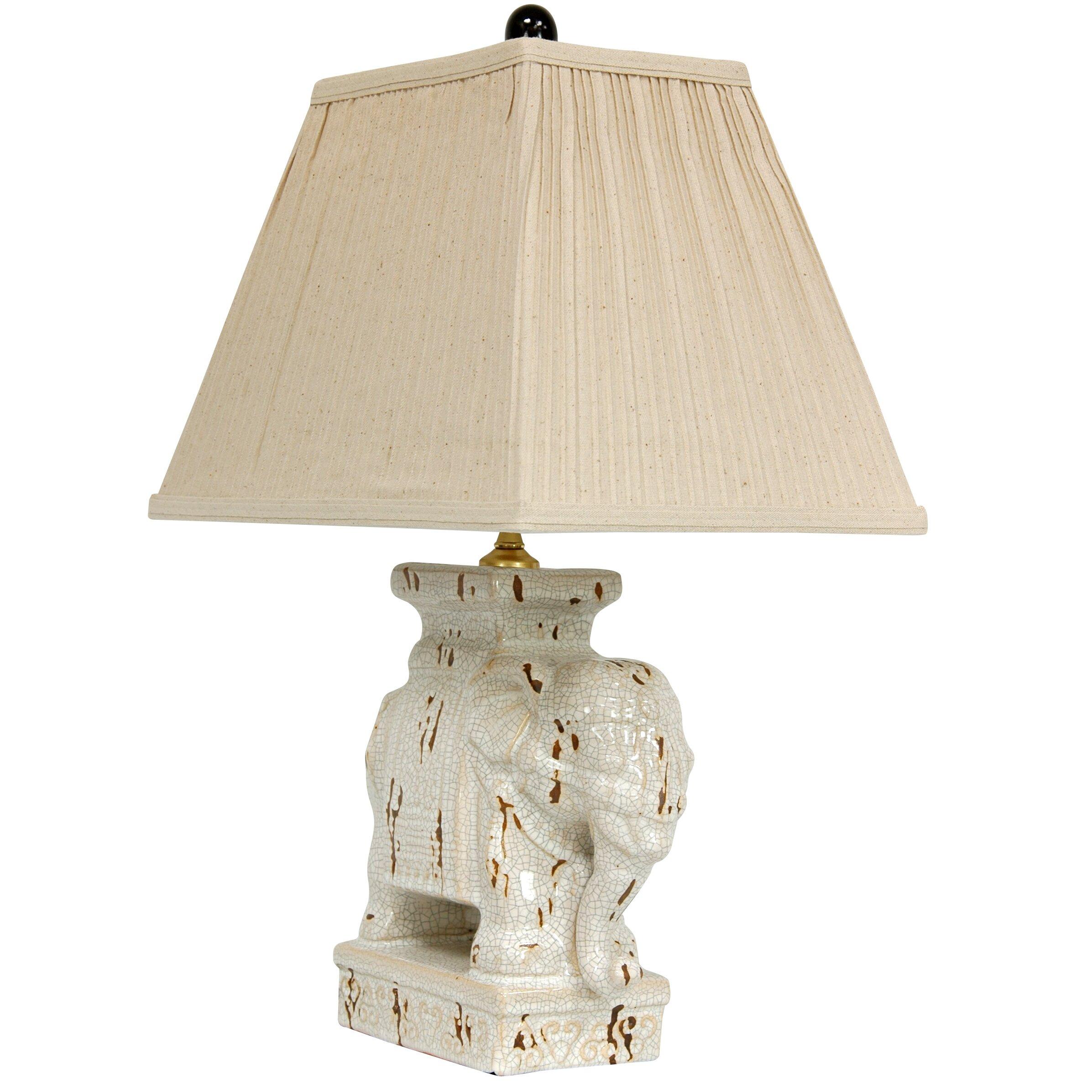 oriental furniture elephant 22 table lamp reviews wayfair. Black Bedroom Furniture Sets. Home Design Ideas