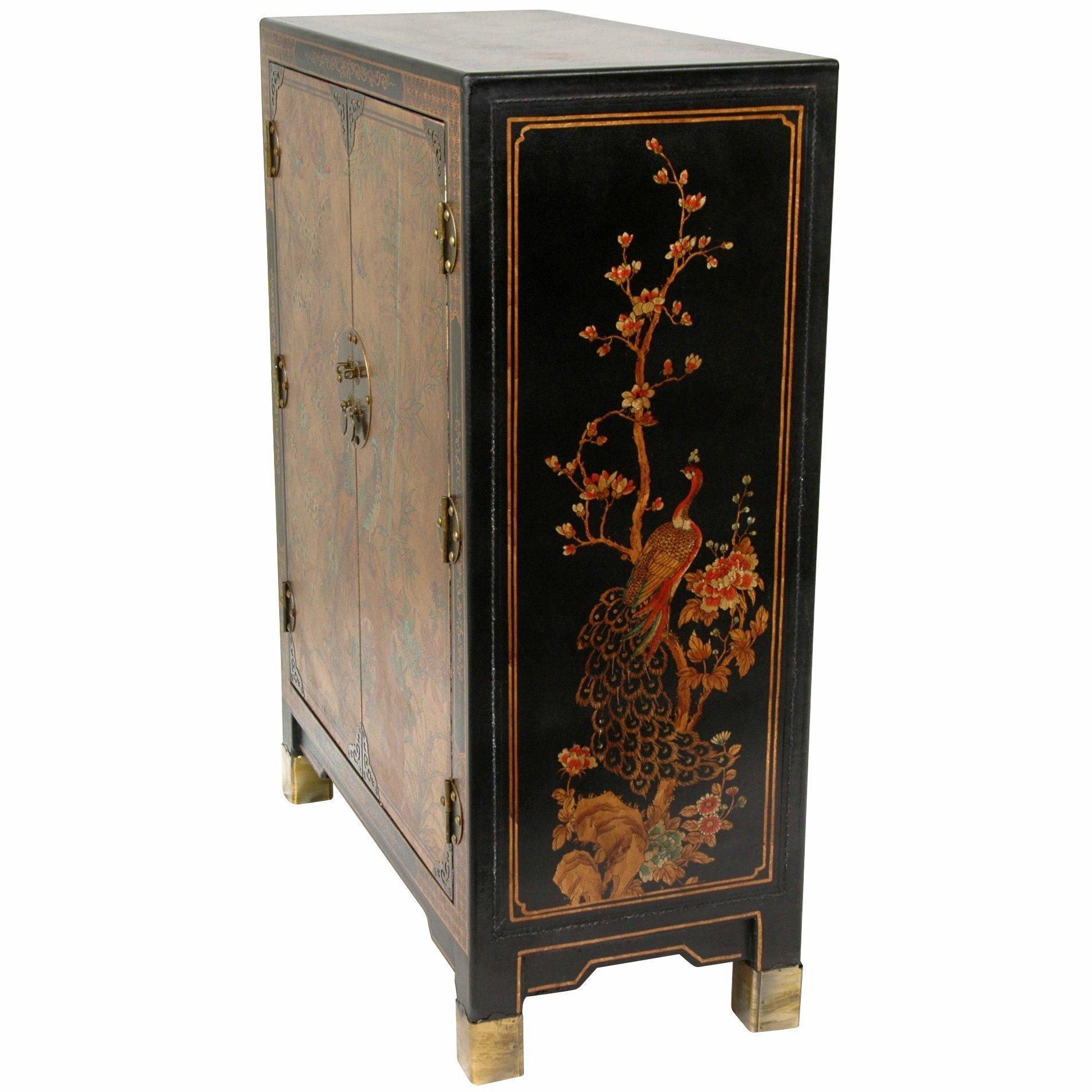 Oriental Furniture Nestling Birds Cabinet Amp Reviews Wayfair