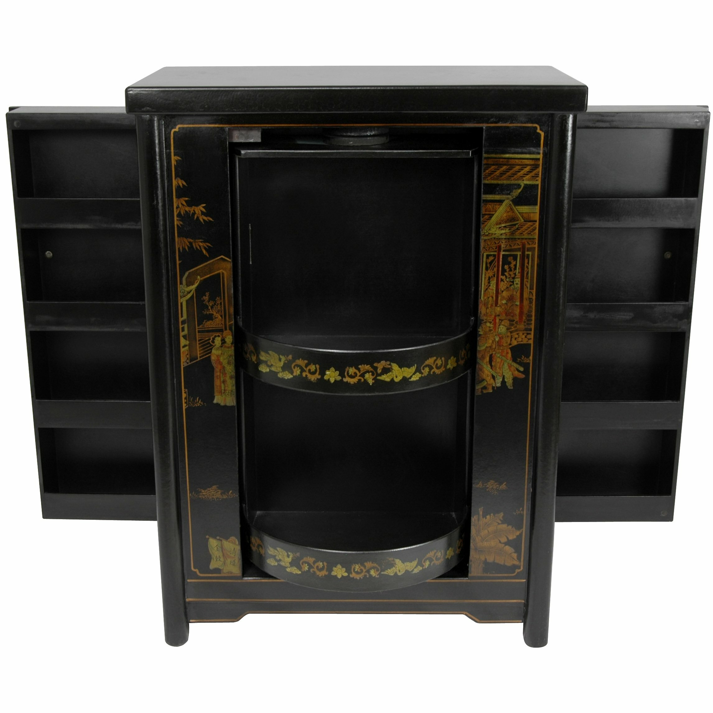 Oriental Furniture Bar Cabinet With Wine Storage Wayfair