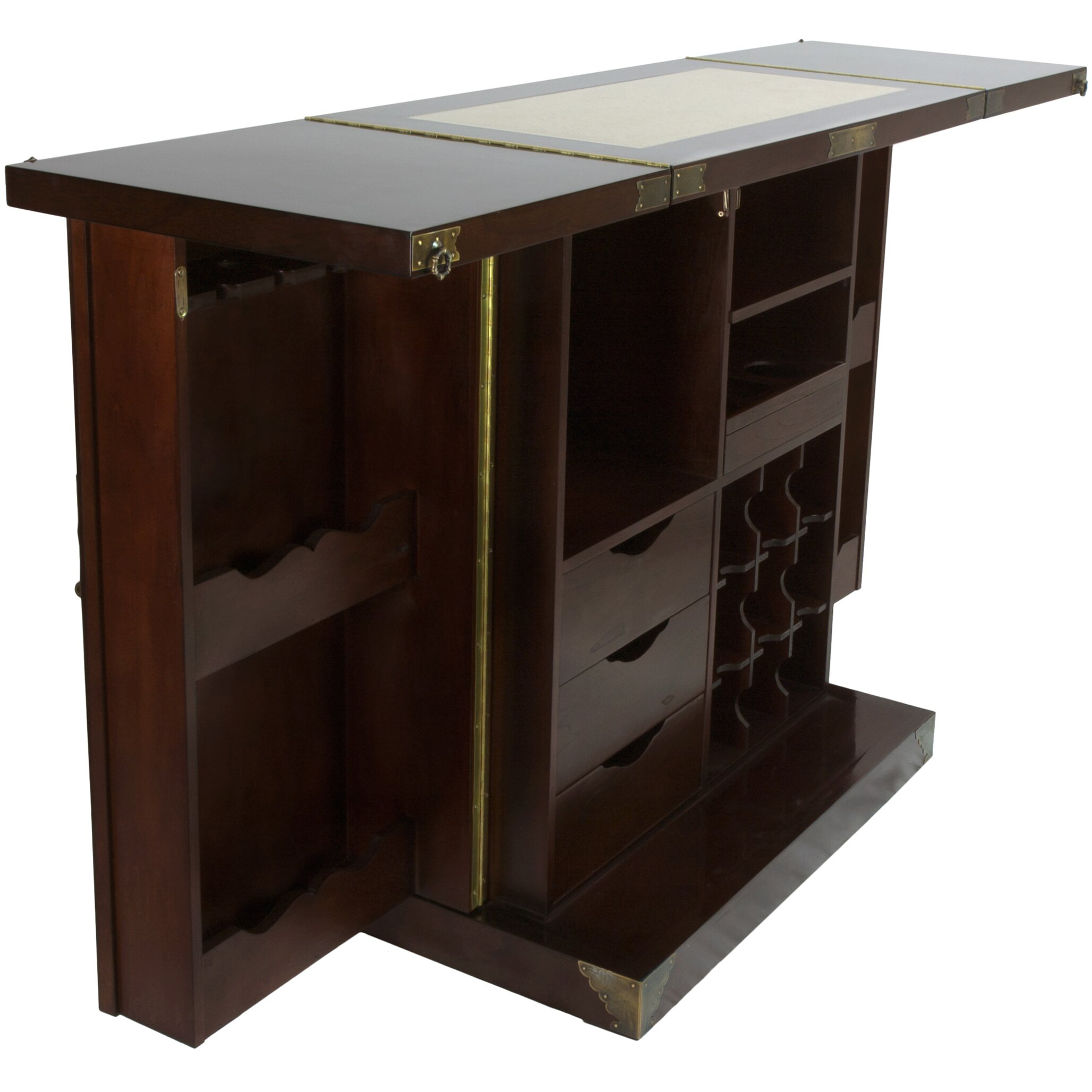 Oriental furniture korean bar cabinet with wine storage for Oriental furniture