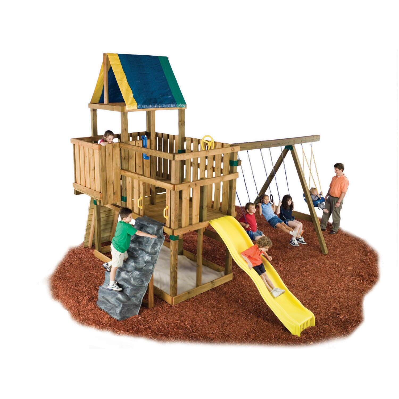 Swing n slide kodiak custom diy swing set kit reviews for Diy kids swing