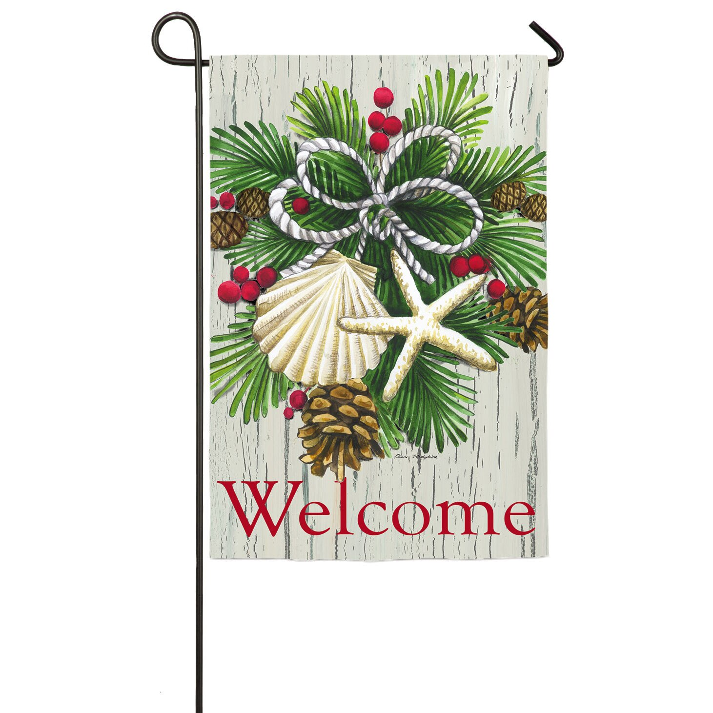 Square Dining Room Table For 12 Evergreen Enterprises Inc Costal Christmas Garden Flag