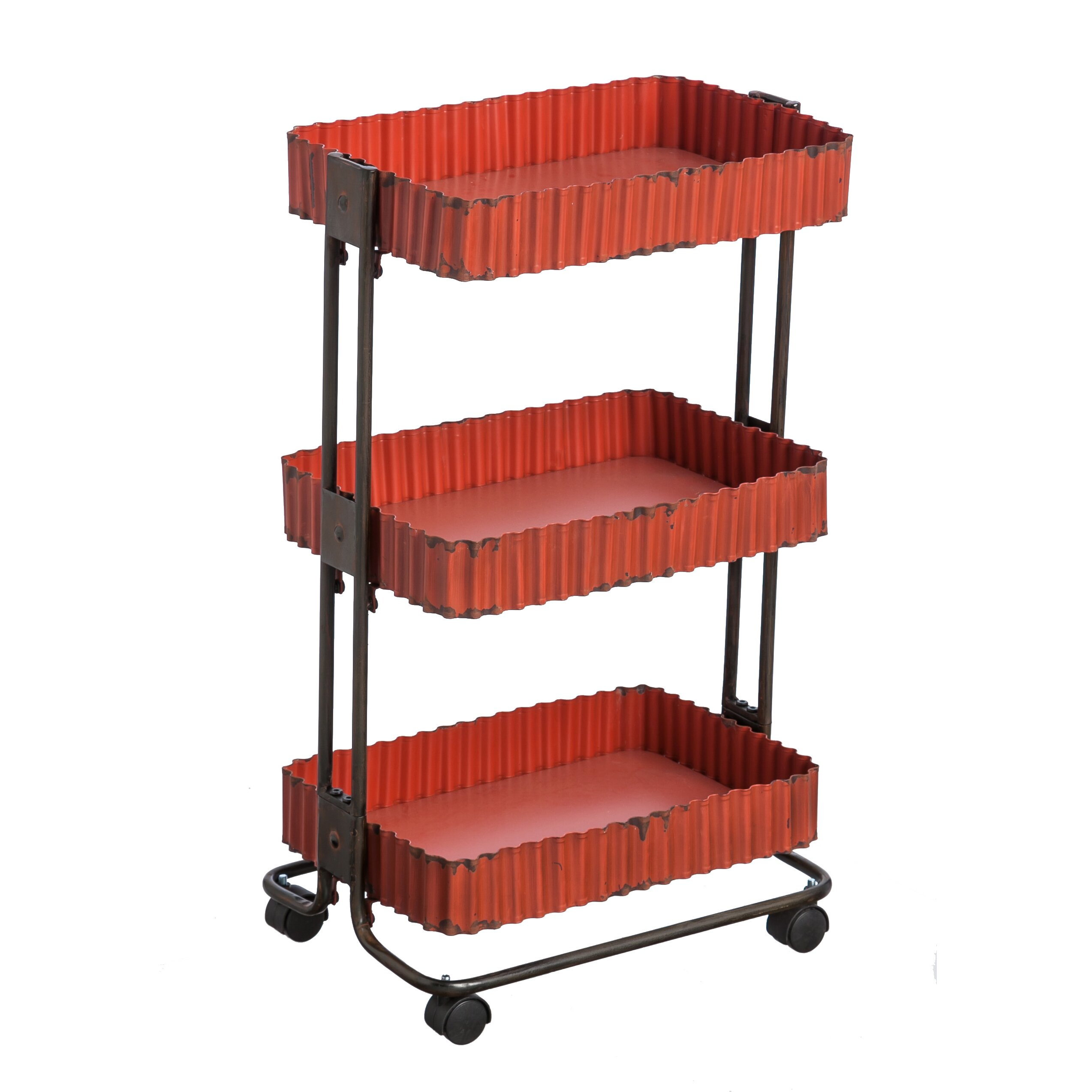 Evergreen Enterprises Inc 3 Tier Metal Utility Cart