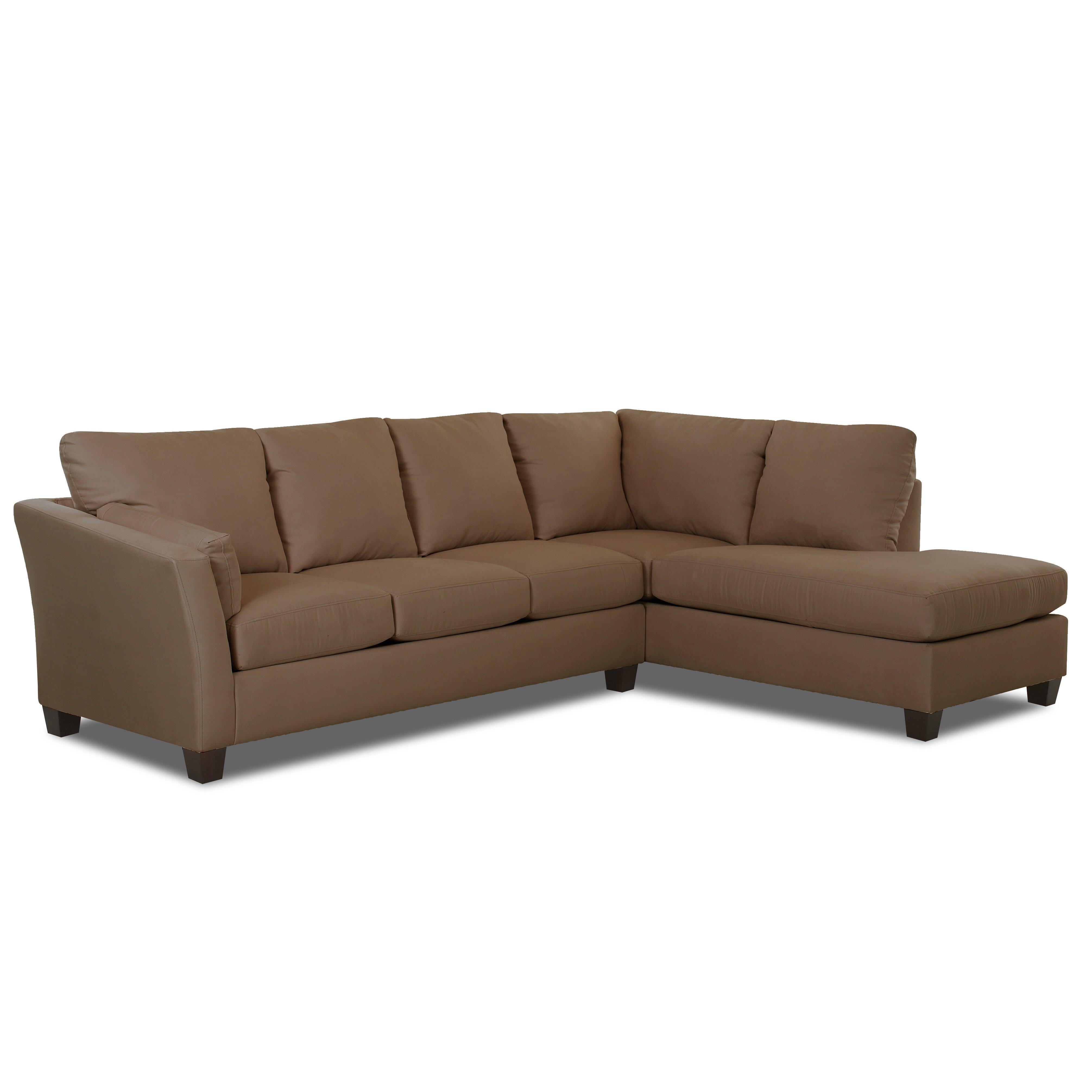 Klaussner Furniture Higgins Sectional & Reviews | Wayfair