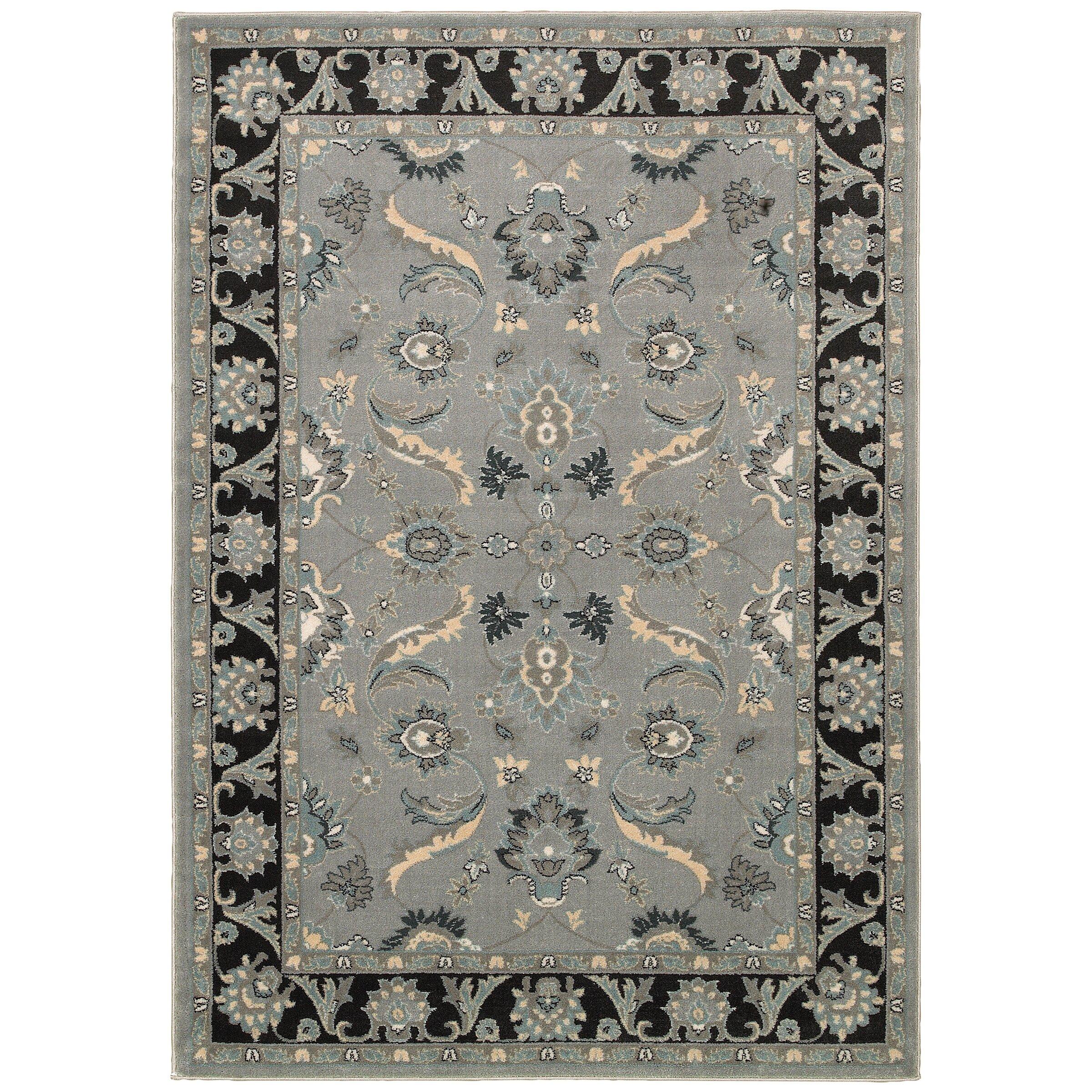 lr resources adana gray black area rug reviews wayfair. Black Bedroom Furniture Sets. Home Design Ideas