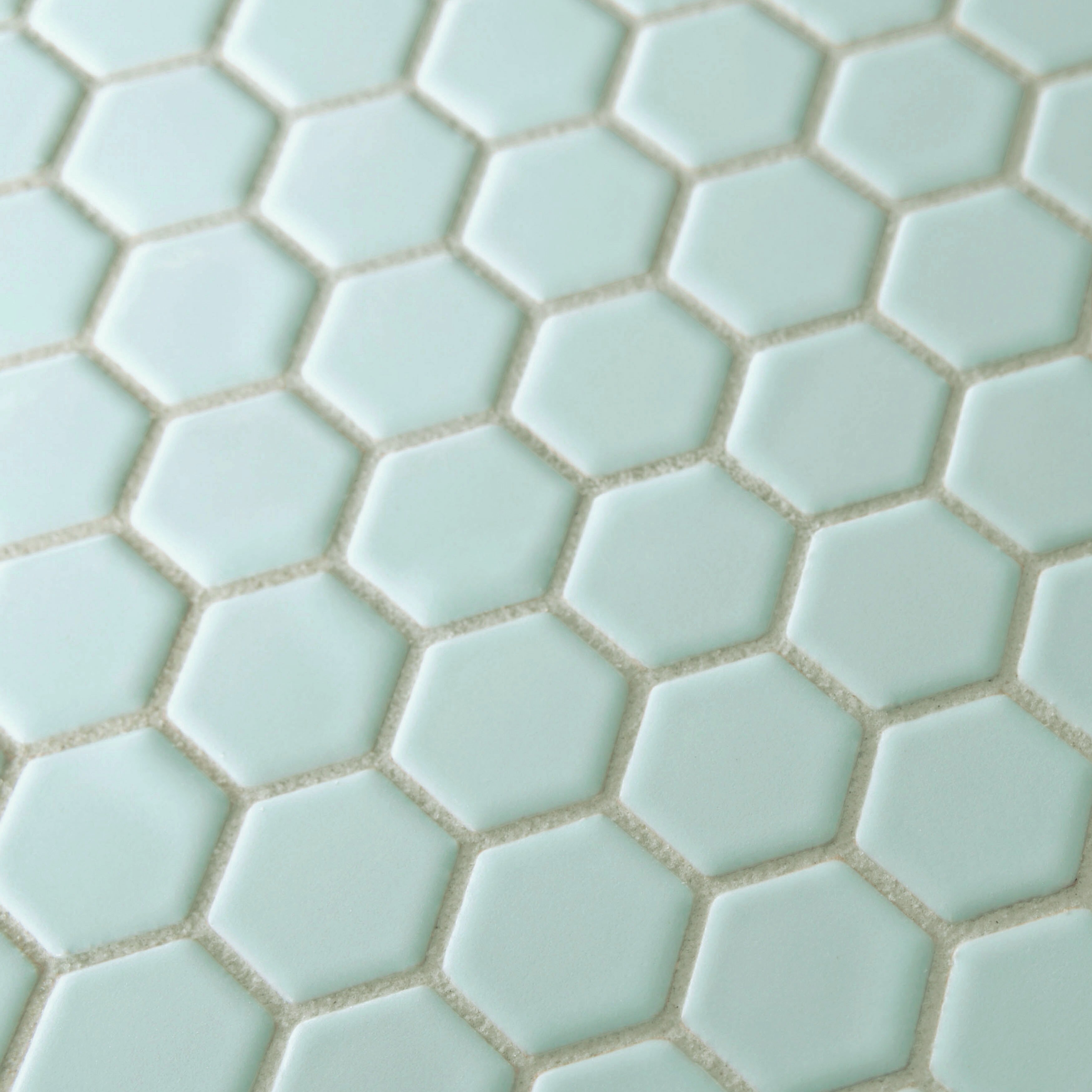 "EliteTile Retro 0.875"" x 0.875"" Hex Porcelain Mosaic Tile ..."