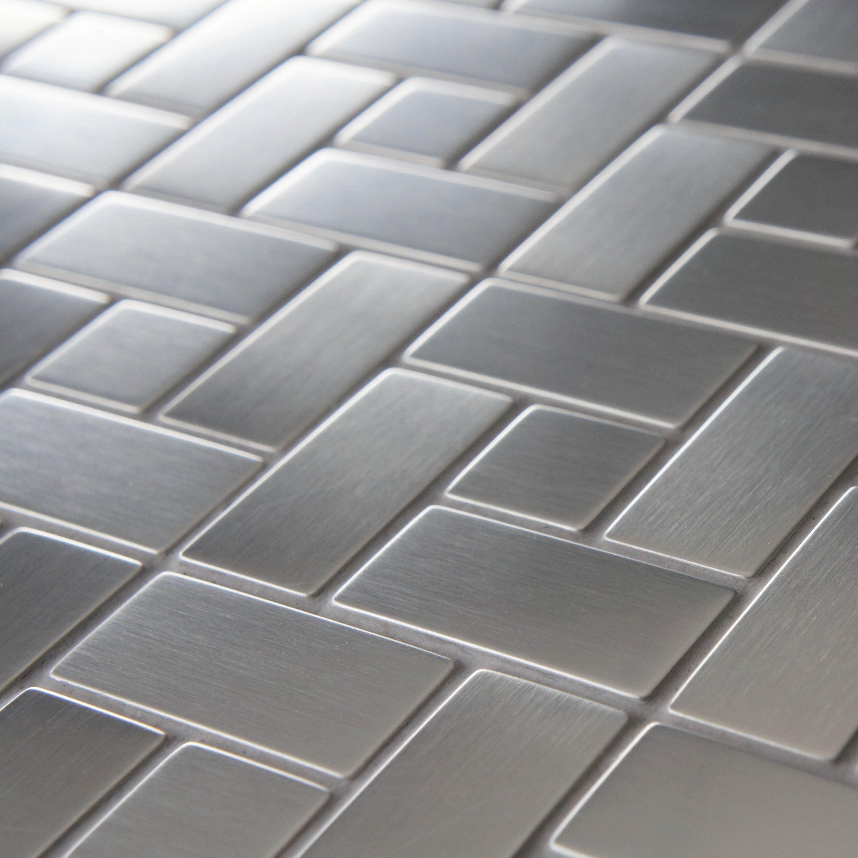 Metal floor tiles
