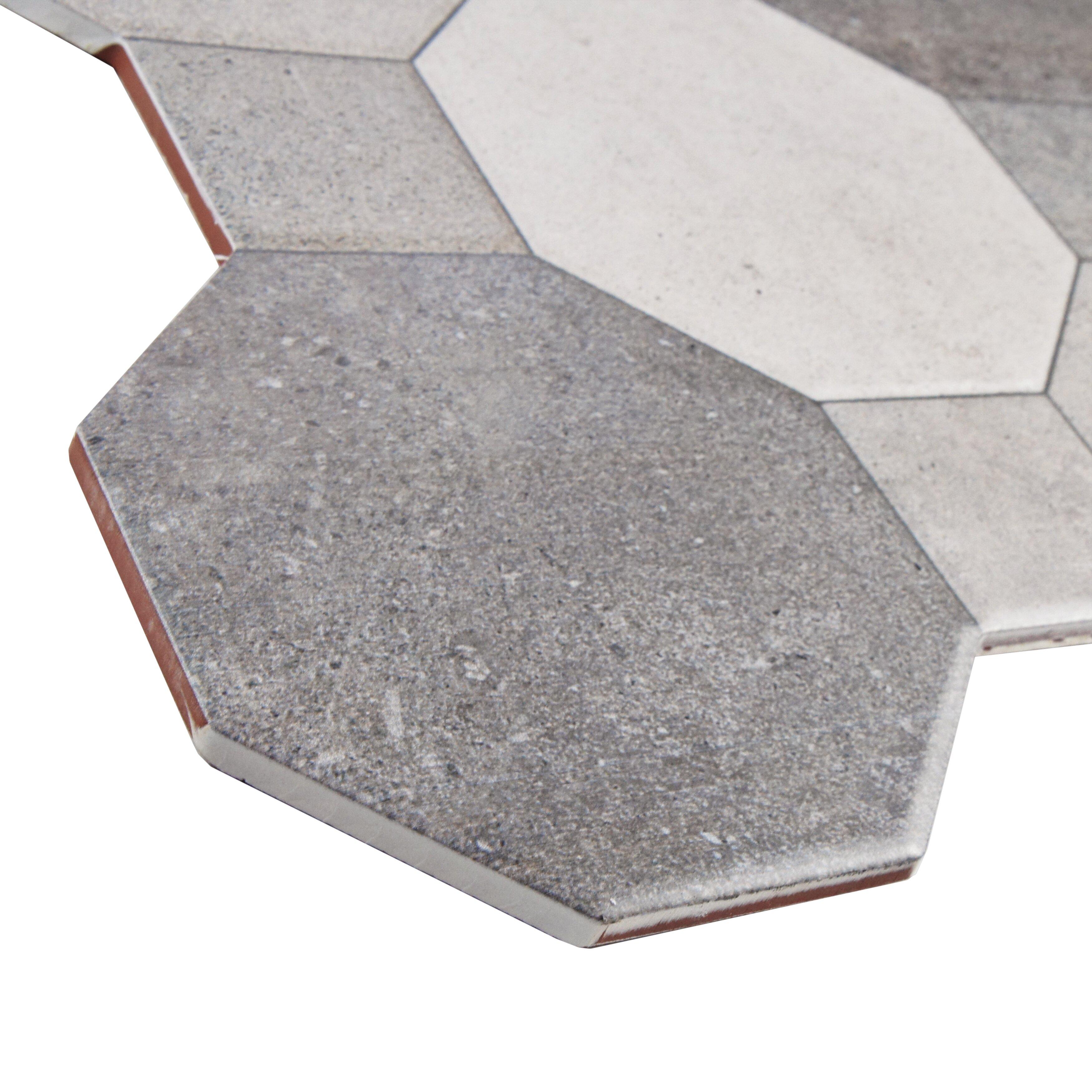 "17.75"" x 17.75"" Ceramic Field Tile in Cement & Reviews | Wayfair"