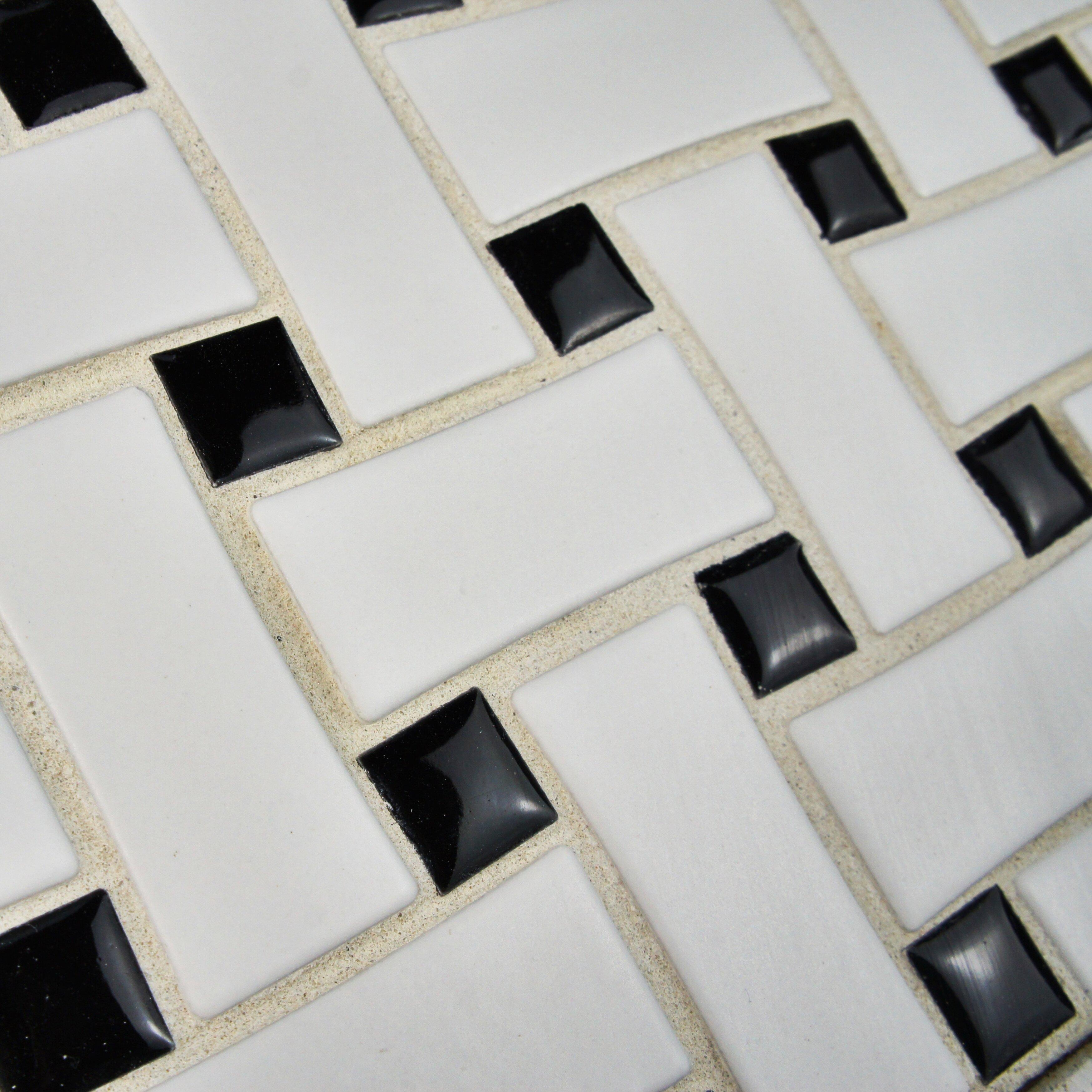 Elitetile retro basket weave 10 5 x 10 5 porcelain for 10 x 10 ceramic floor tile