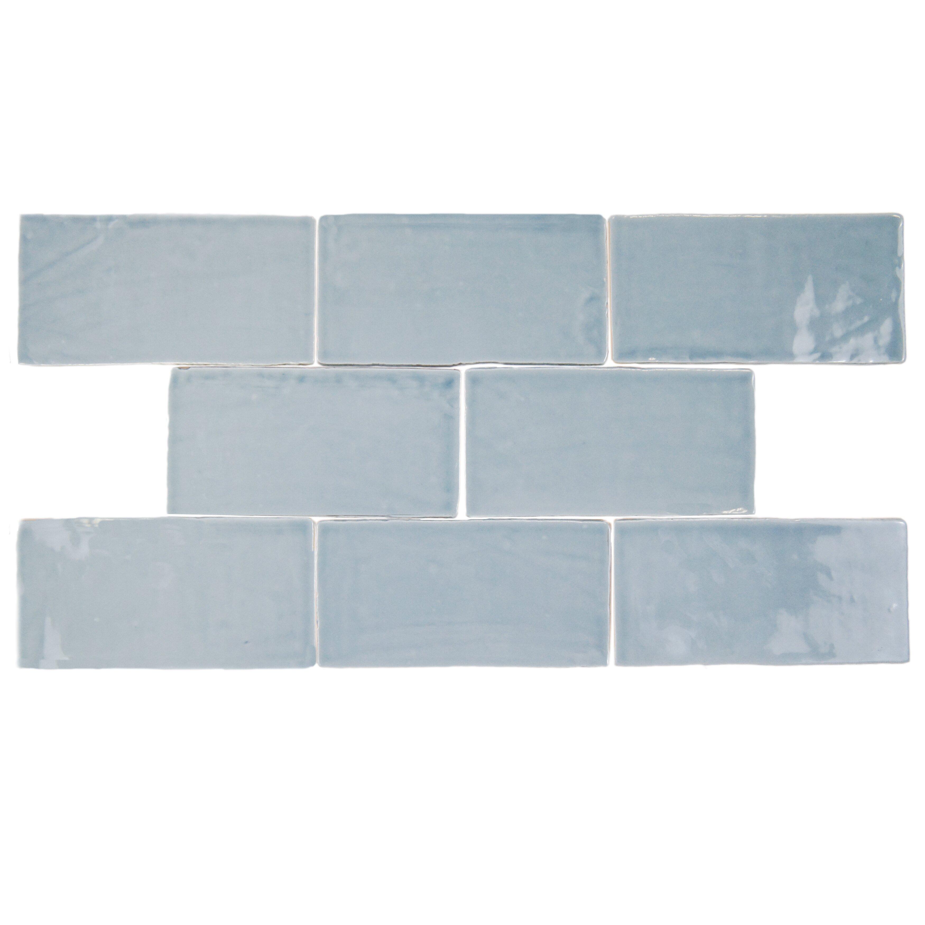 Elitetile Tivoli 3 Quot X 6 Quot Ceramic Subway Tile In Aqua Amp Reviews Wayfair