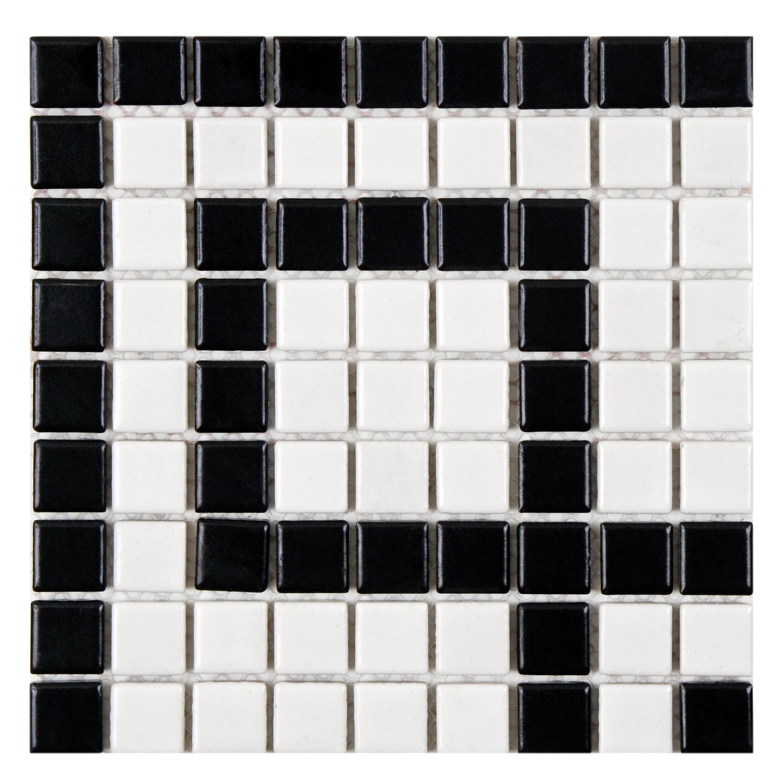 Elitetile Retro Greek Key 0 81 Quot X 0 81 Quot Porcelain Mosaic