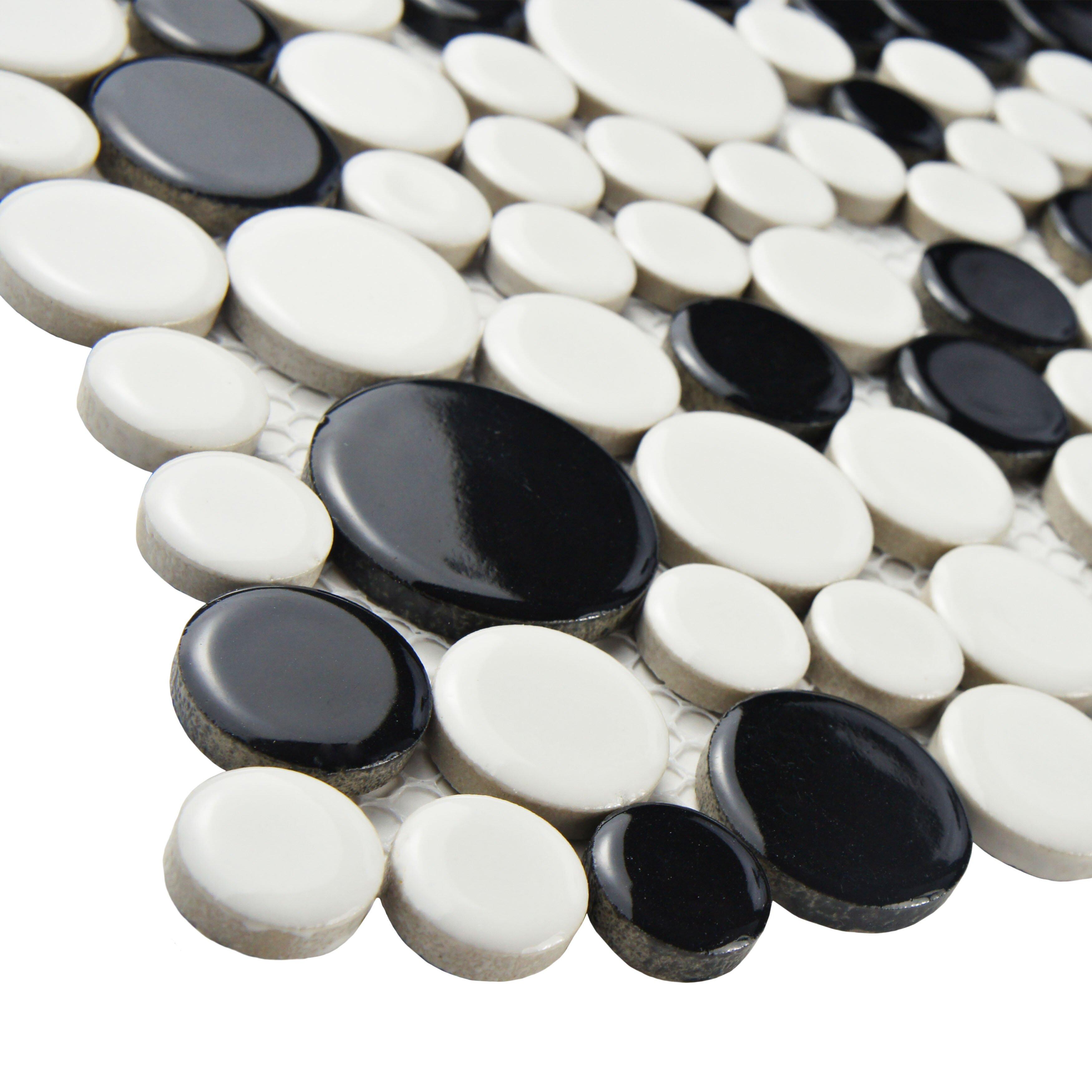 Elitetile retro bubble 12 x 12 porcelain mosaic floor for 12 x 12 white floor tile