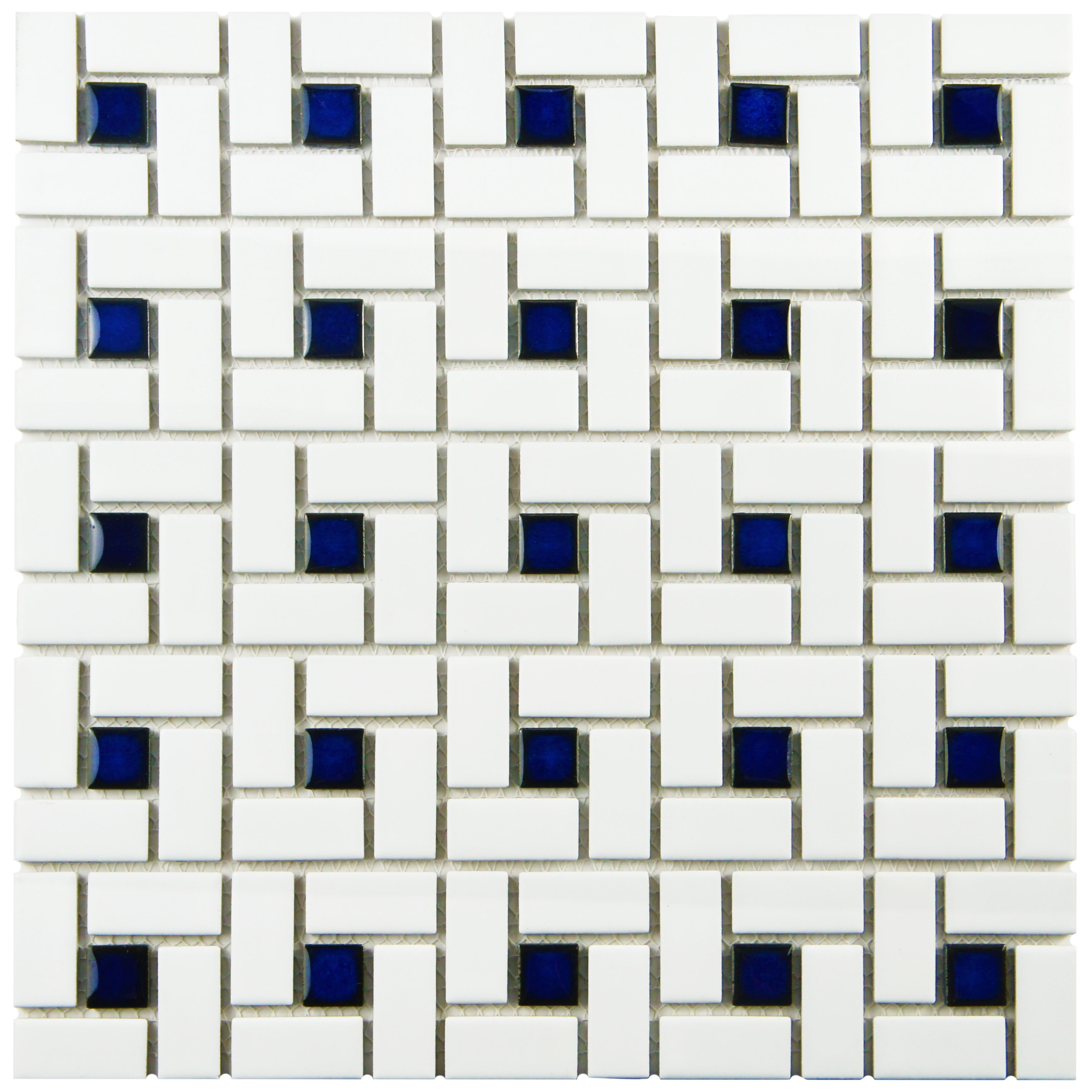 Elitetile retro 12 5 x 12 5 porcelain mosaic tile in for 12 x 12 blue ceramic floor tile