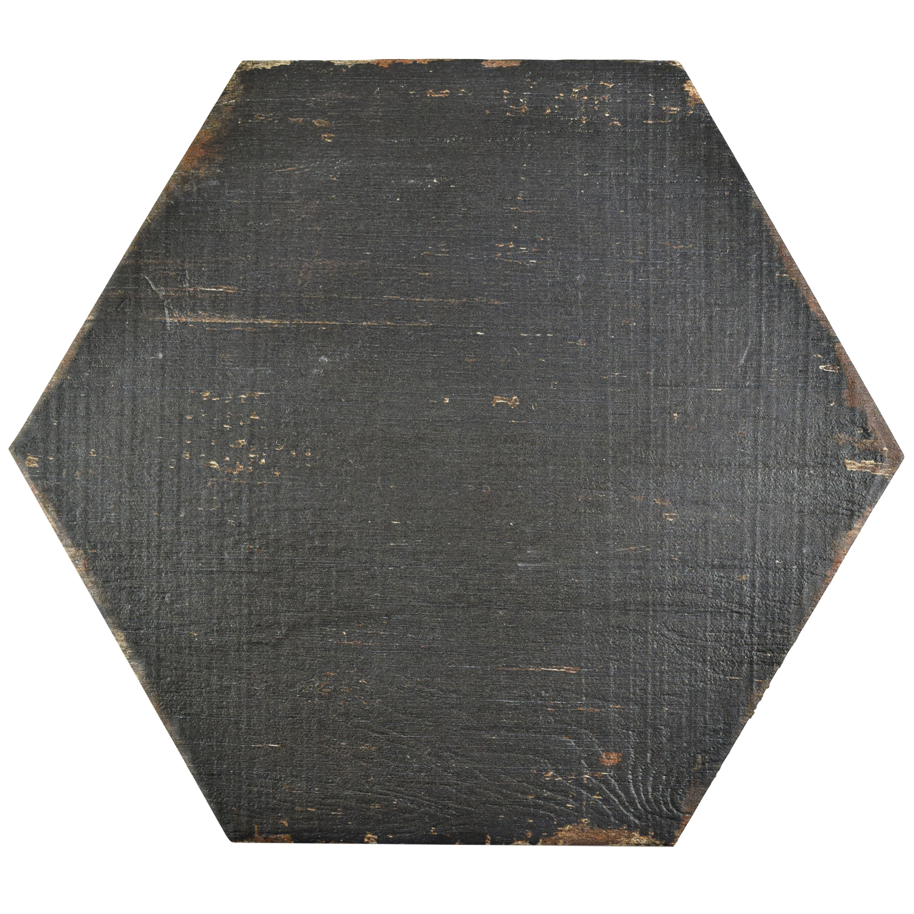 """... 16.25"""" Hex Porcelain Floor and Wall Tile in Black & Reviews 