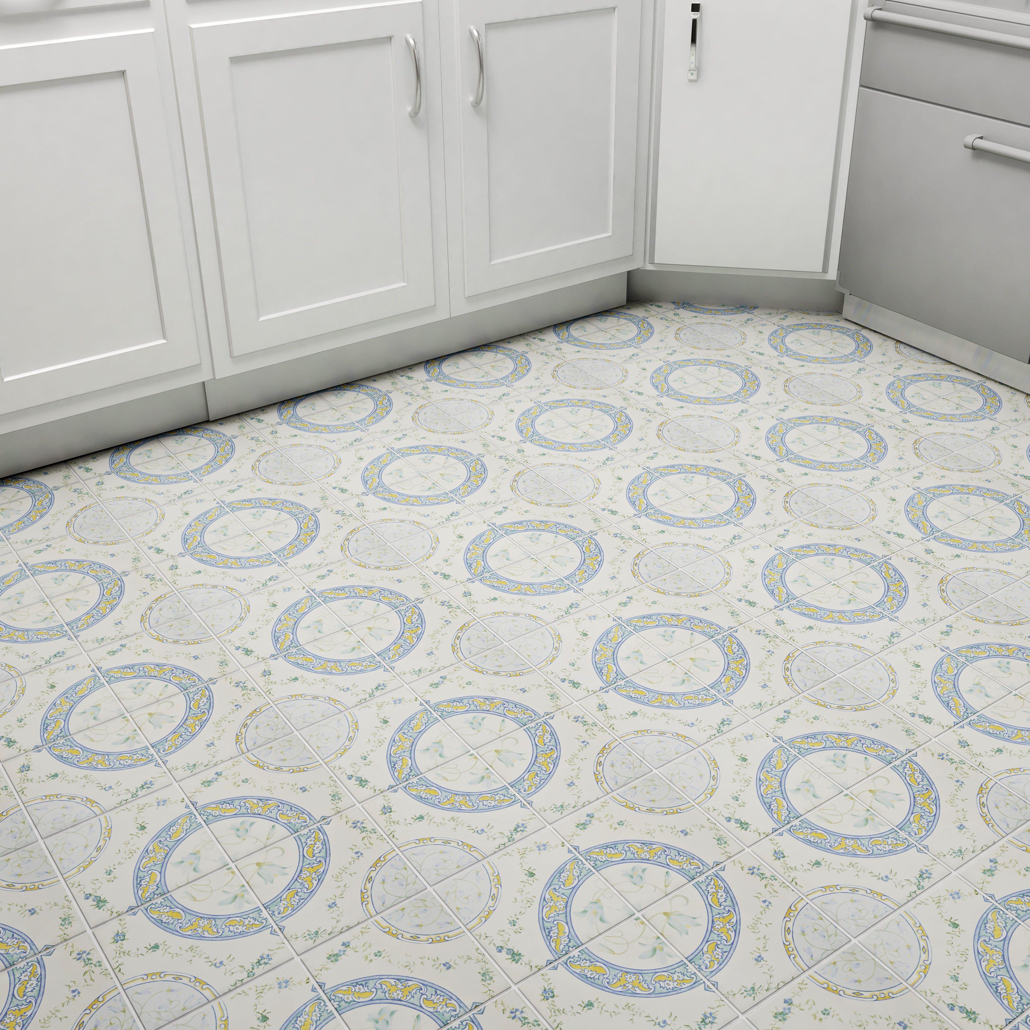 Elitetile tudor 13 x 13 ceramic field tile in rian for 13 inch ceramic floor tile