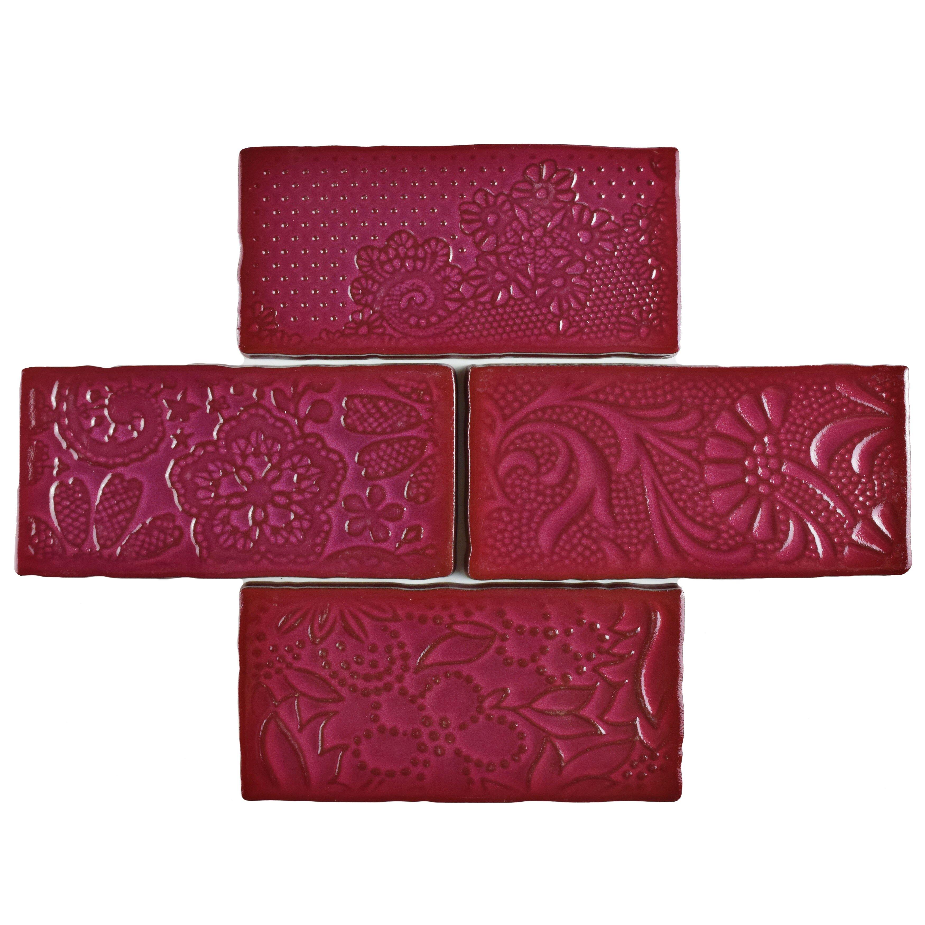 Elitetile Harra 3 X 6 Ceramic Subway Tile In Feelings Red Moon Wayfair
