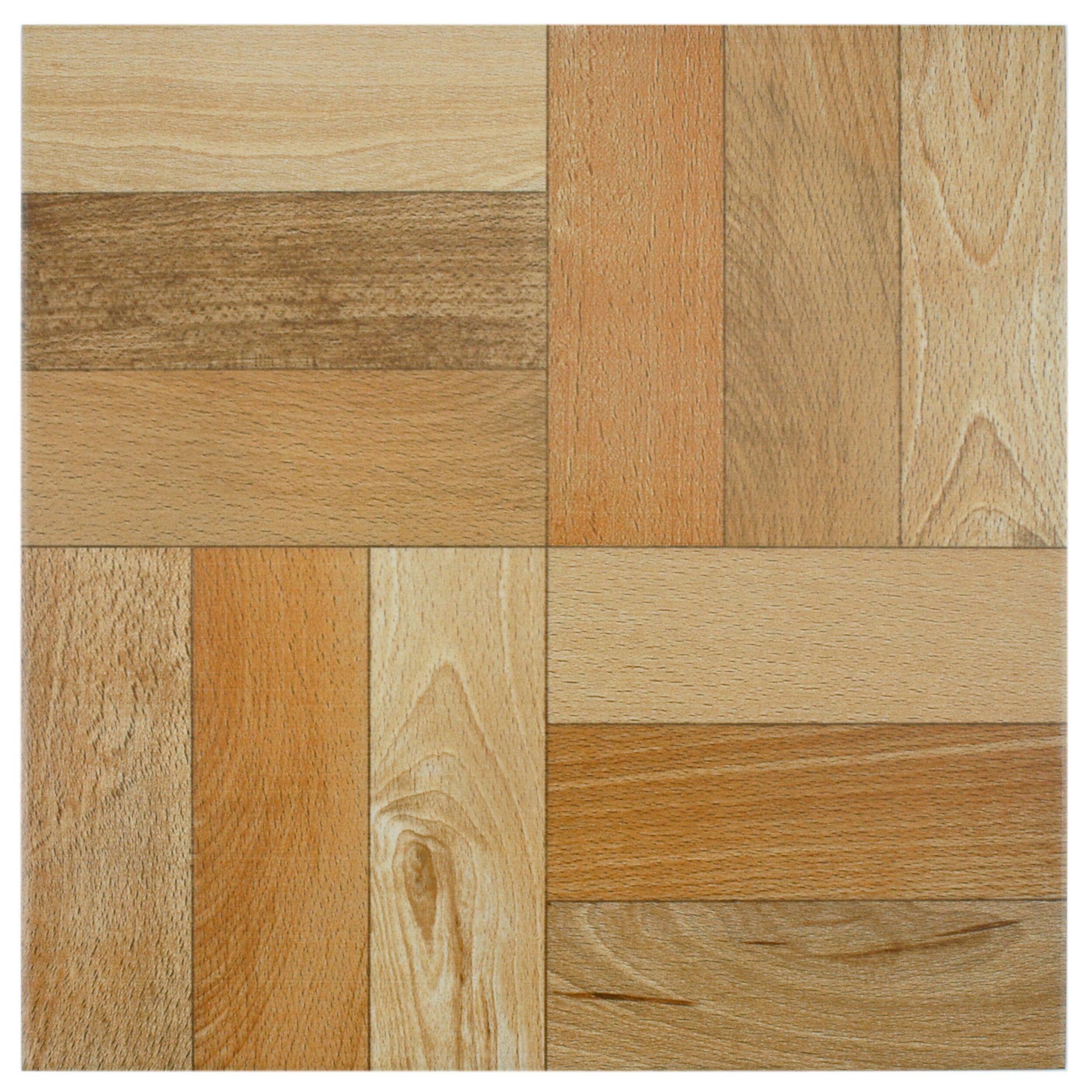Elitetile cobi 12 5 x 12 5 ceramic wood tile in cerezo for 12 x 12 wood floor tiles
