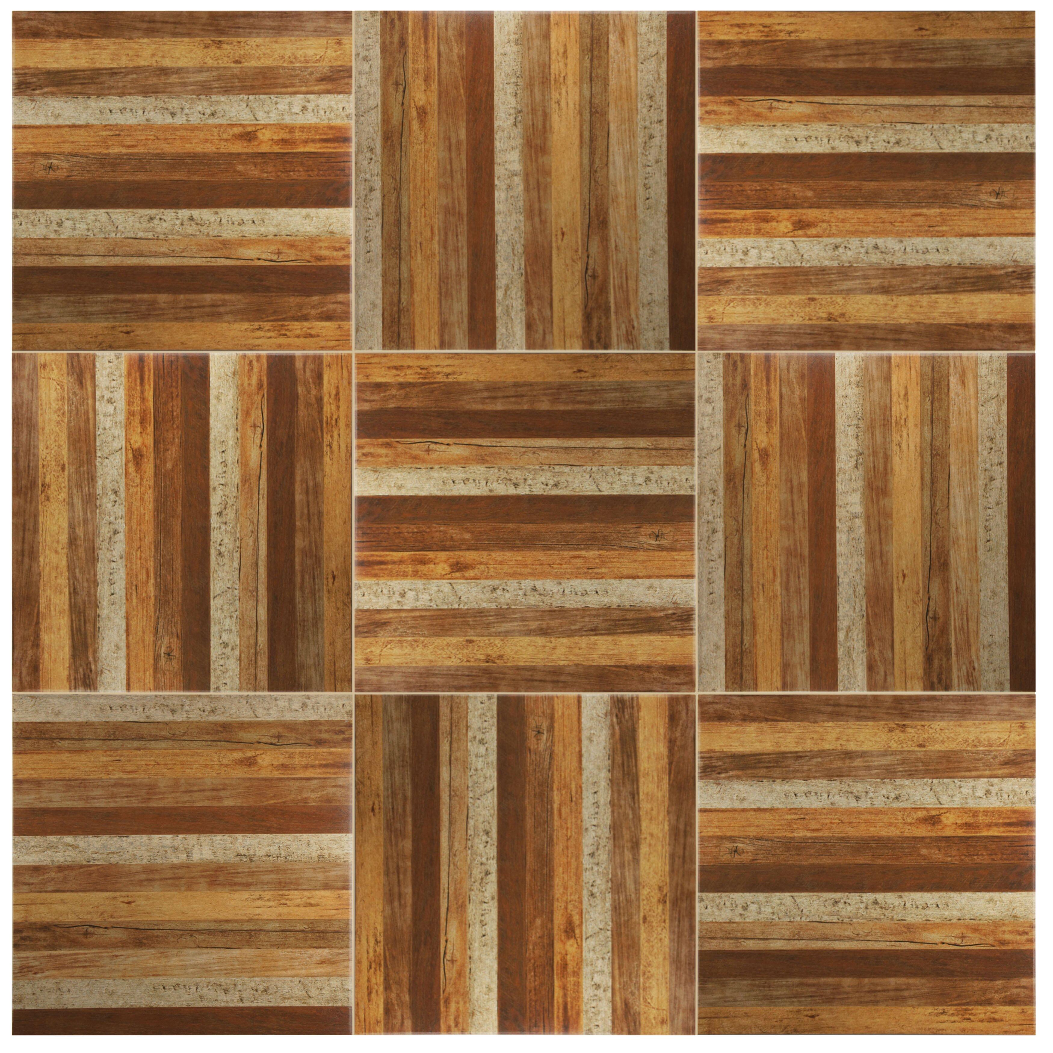 elitetile canadia x ceramic wood look tile in natural reviews wayfair. Black Bedroom Furniture Sets. Home Design Ideas