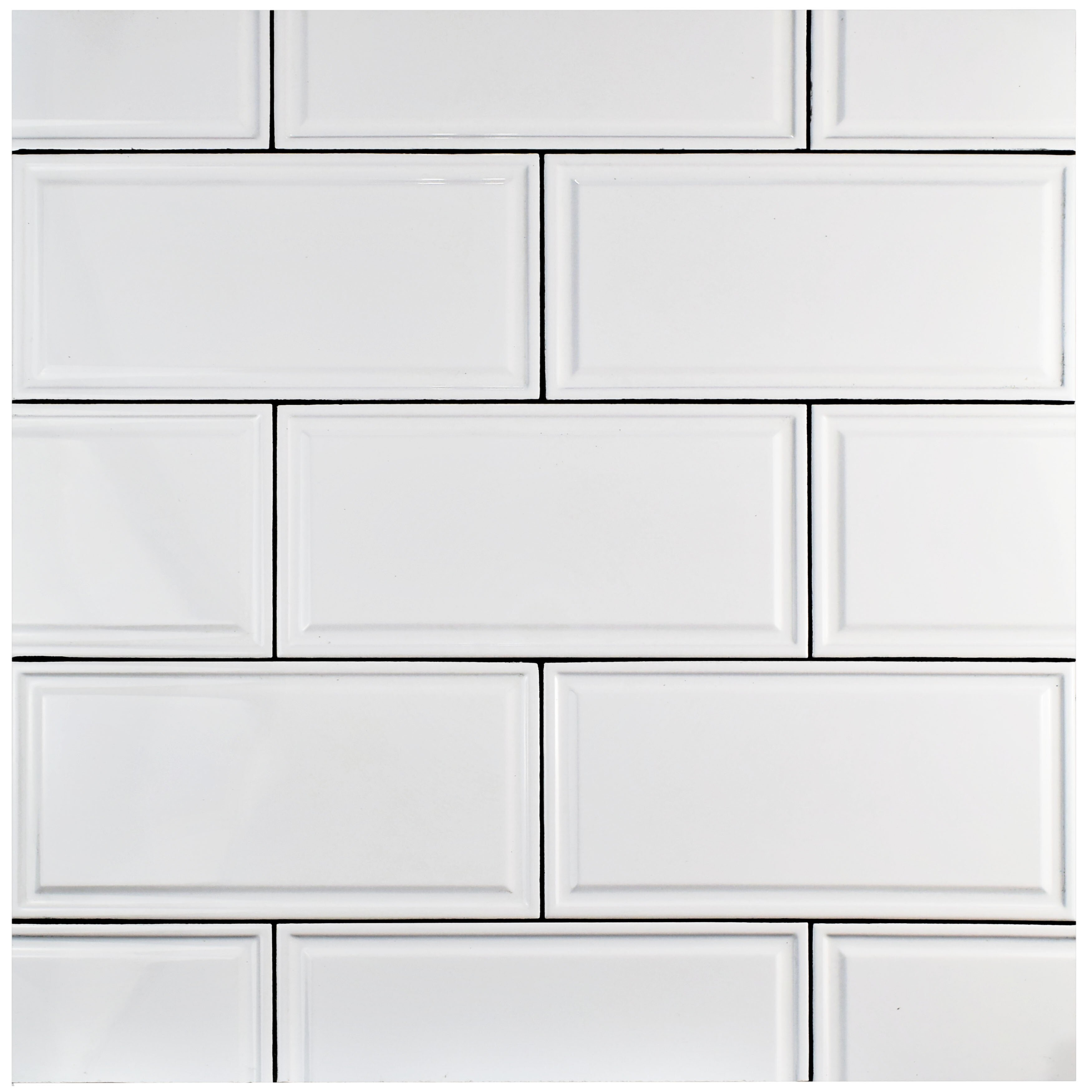 Elitetile Linio 6 X 12 Ceramic Wall Tile In White Reviews Wayfair