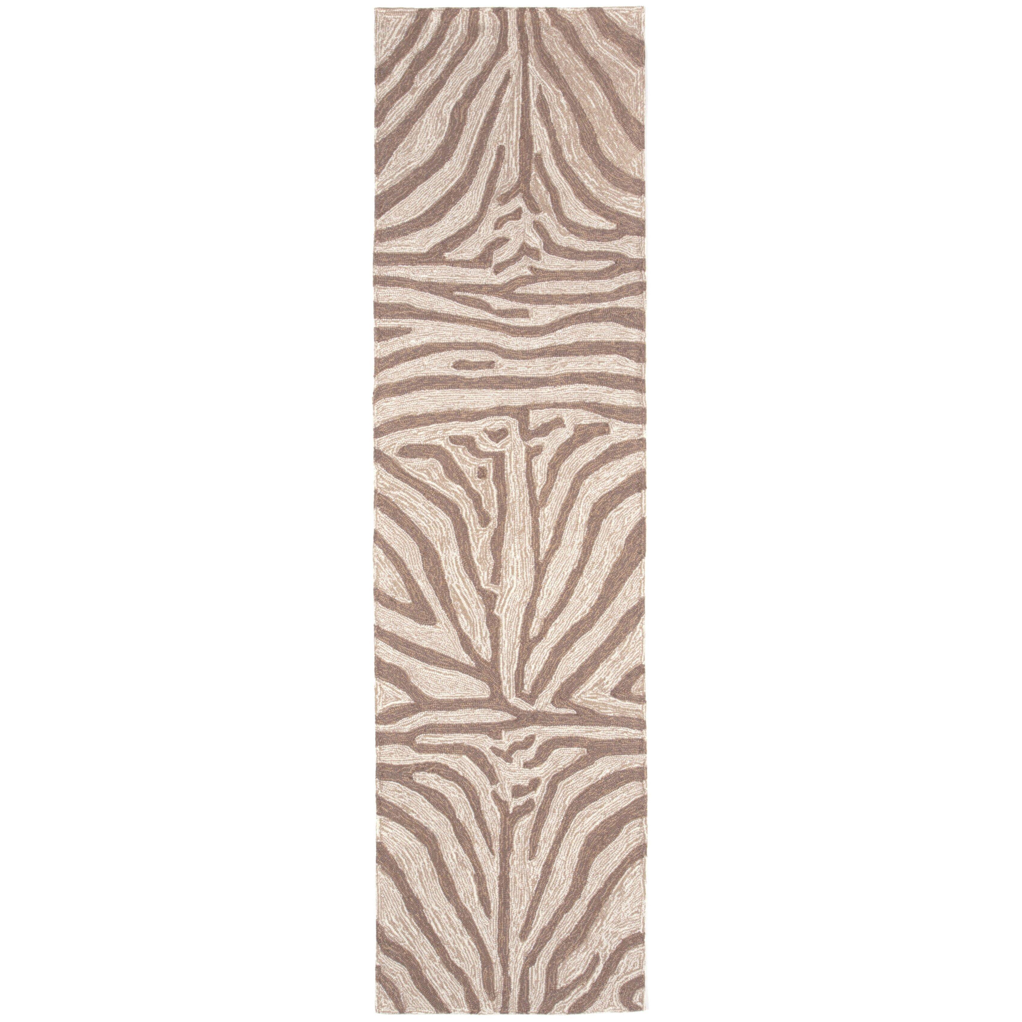 Liora Manne Ravella Brown Zebra Outdoor Rug & Reviews