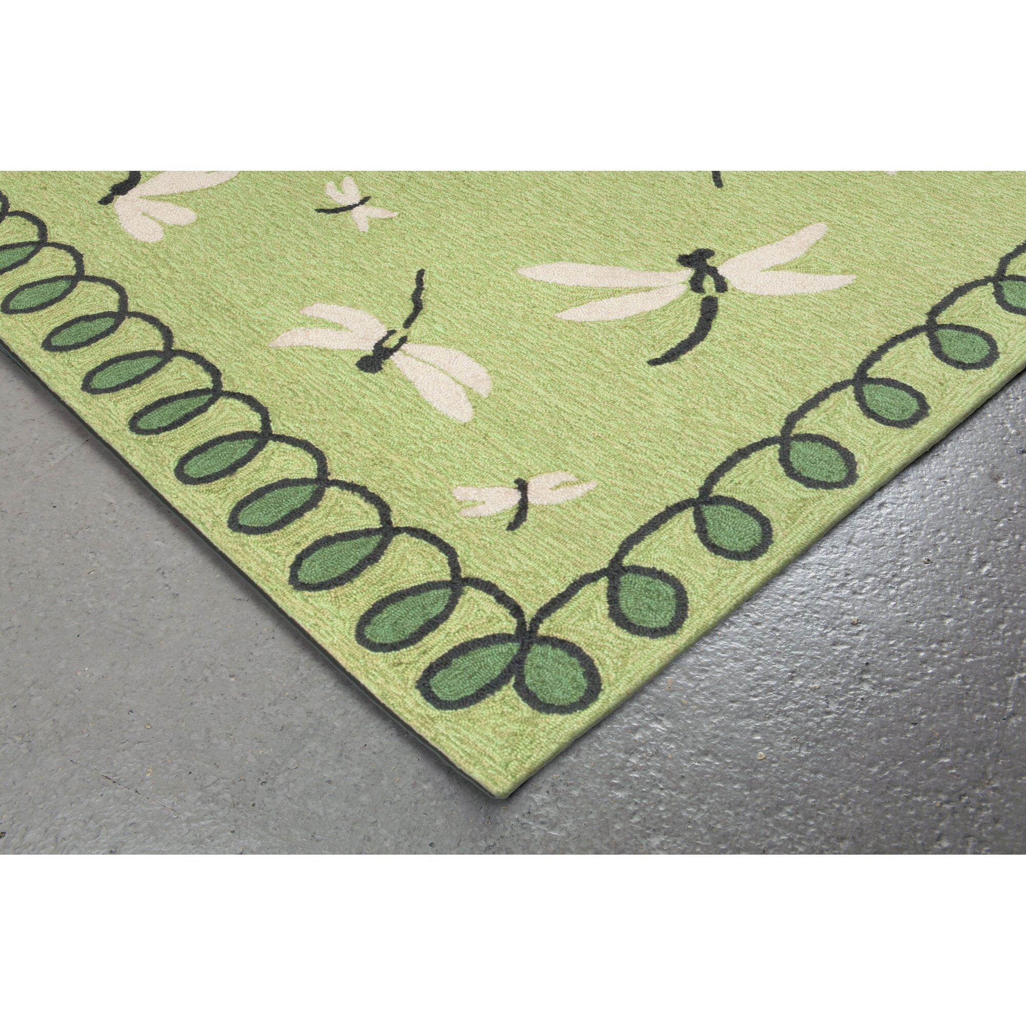 Liora Manne Napa Dragonfly Green Indoor Outdoor Area Rug