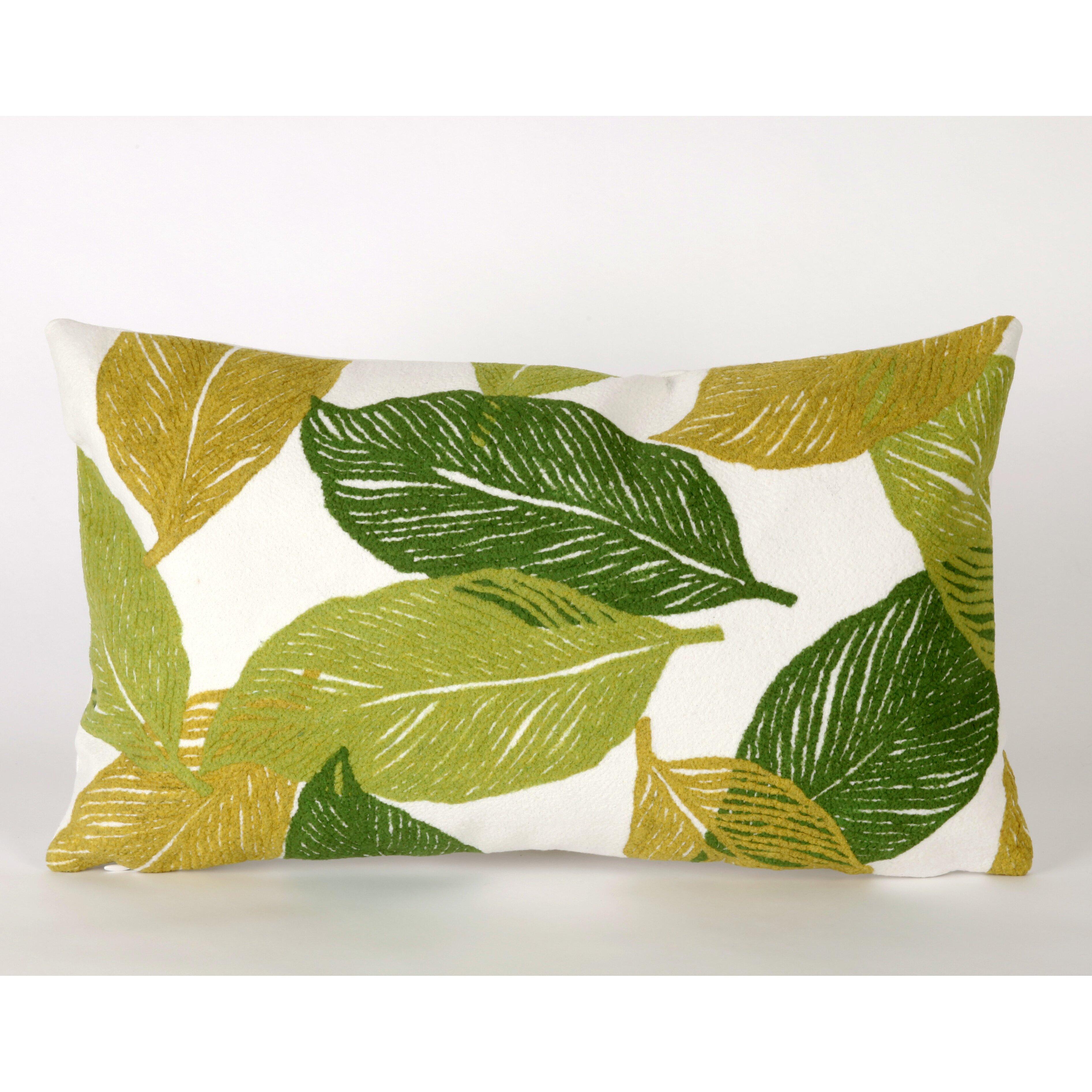 Liora Manne Mystic Leaf Indoor Outdoor Lumbar Pillow