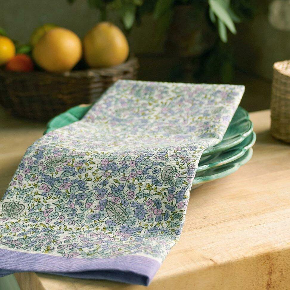 couleur nature lavender purple green tea towel reviews. Black Bedroom Furniture Sets. Home Design Ideas