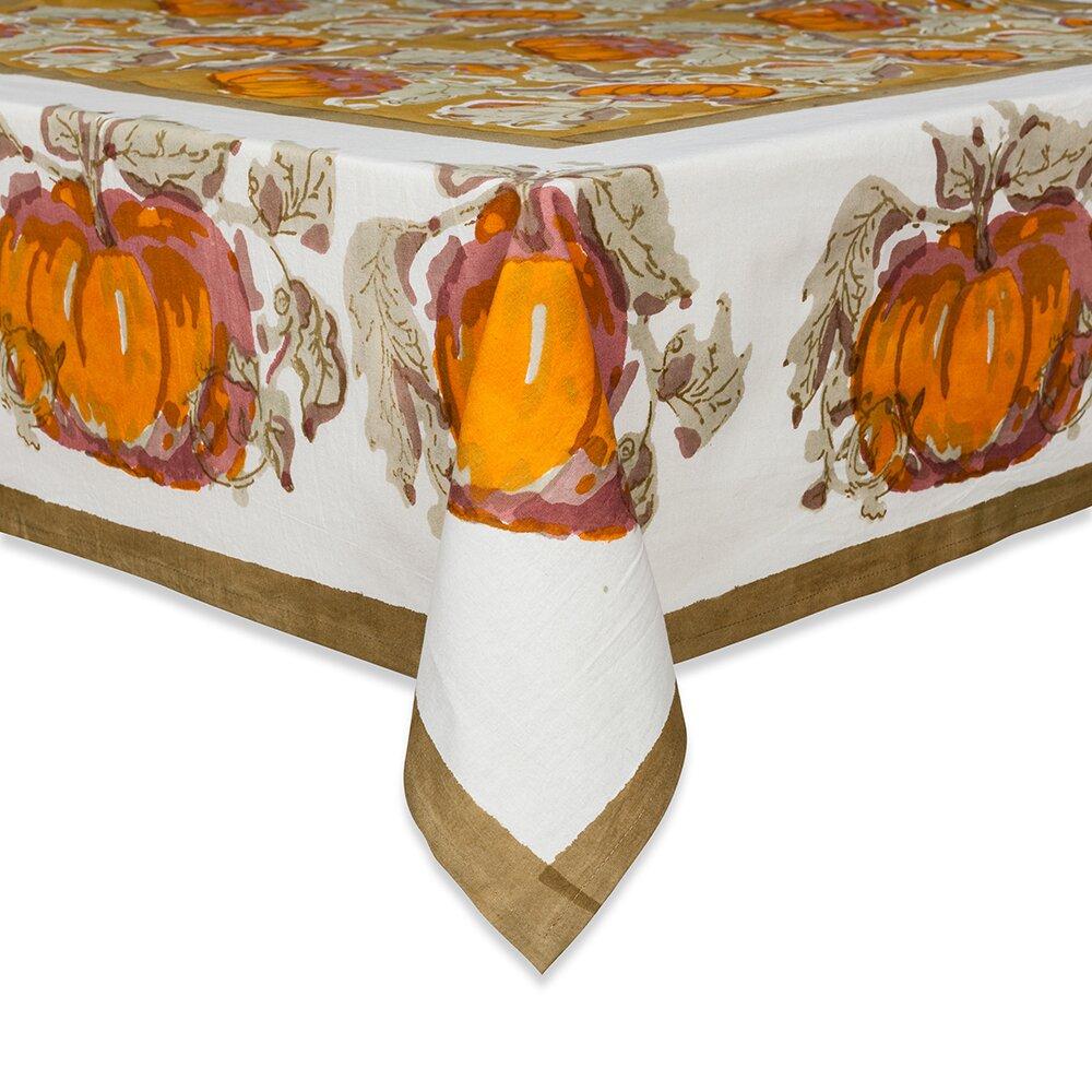 couleur nature pumpkin tablecloth reviews. Black Bedroom Furniture Sets. Home Design Ideas