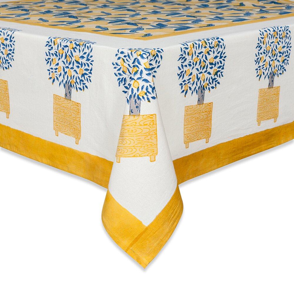 couleur nature lemon tree tablecloth reviews wayfair. Black Bedroom Furniture Sets. Home Design Ideas
