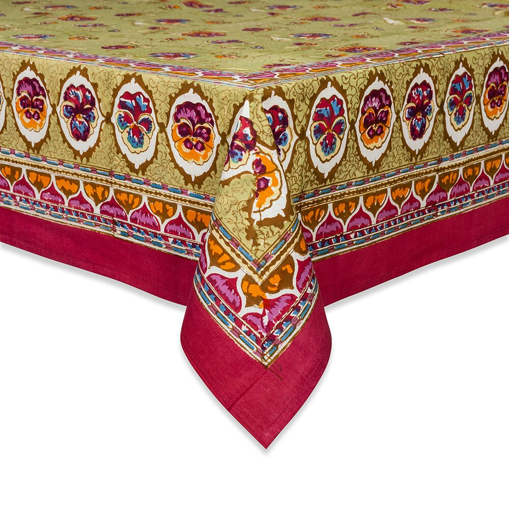 couleur nature pansy tablecloth. Black Bedroom Furniture Sets. Home Design Ideas
