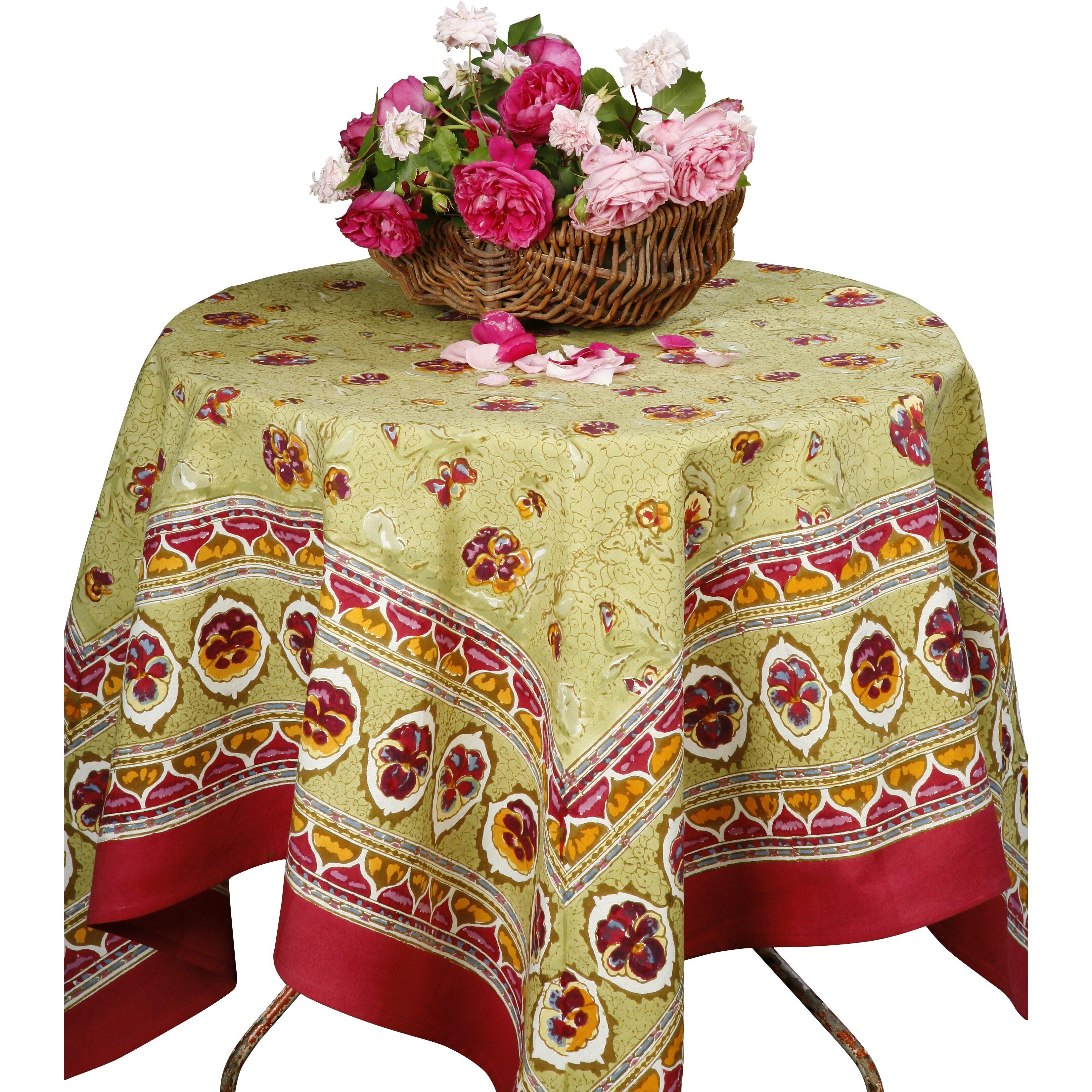 couleur nature pansy tablecloth wayfair. Black Bedroom Furniture Sets. Home Design Ideas