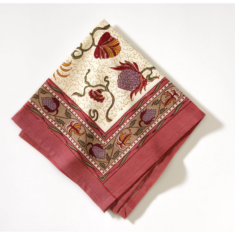 couleur nature fleurs des indes napkin wayfair. Black Bedroom Furniture Sets. Home Design Ideas
