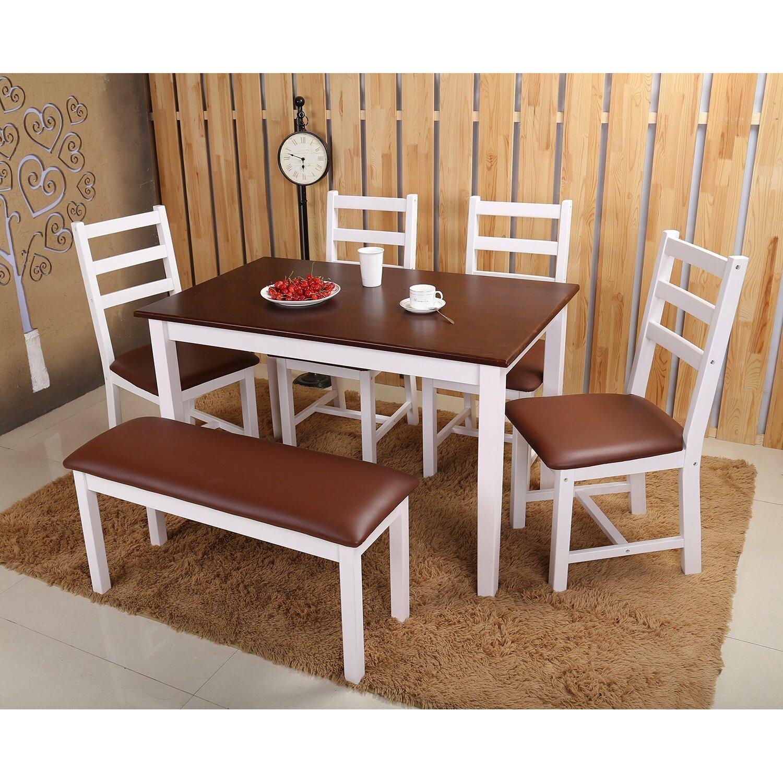 Merax 6 piece dining set reviews wayfair for 6 piece dining room set
