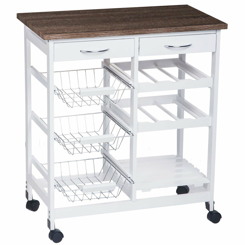 Merax Kitchen Cart With Wood Top Reviews Wayfair Supply