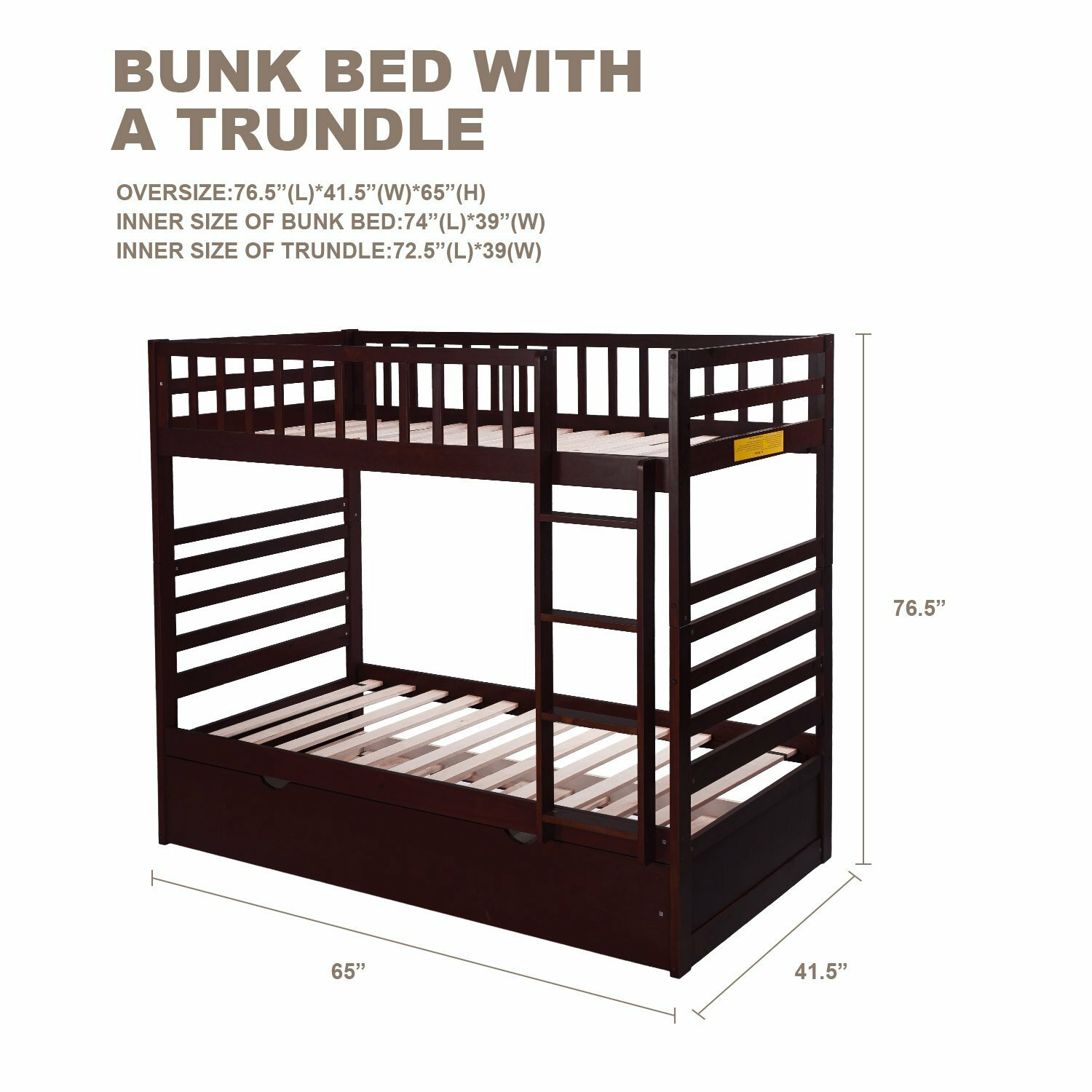 Merax Twin Over Twin Bunk Bed with Trundle | Wayfair