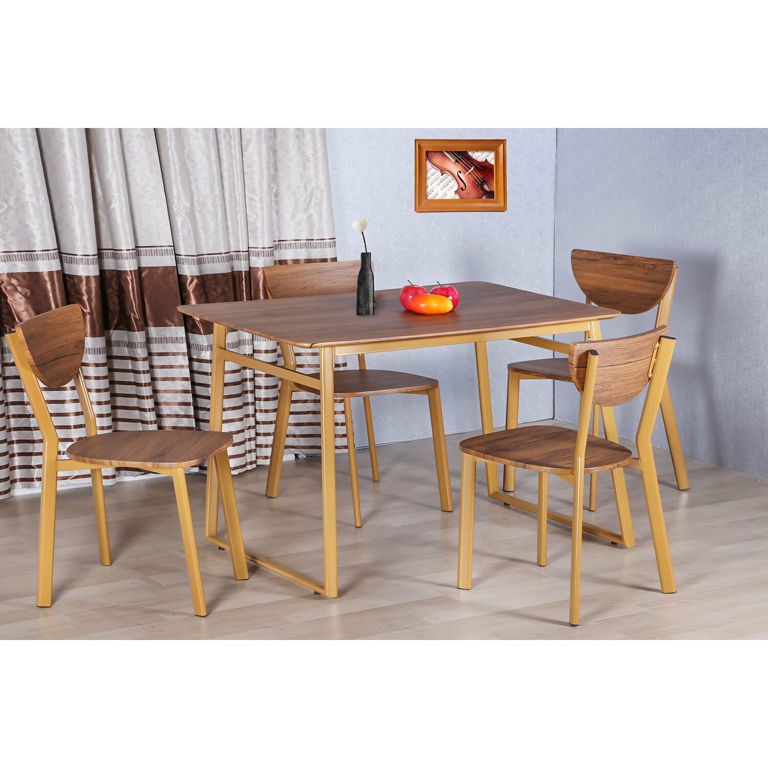 Merax Merax Stylish 5 Piece Dining Set Dining Table Set Wayfair