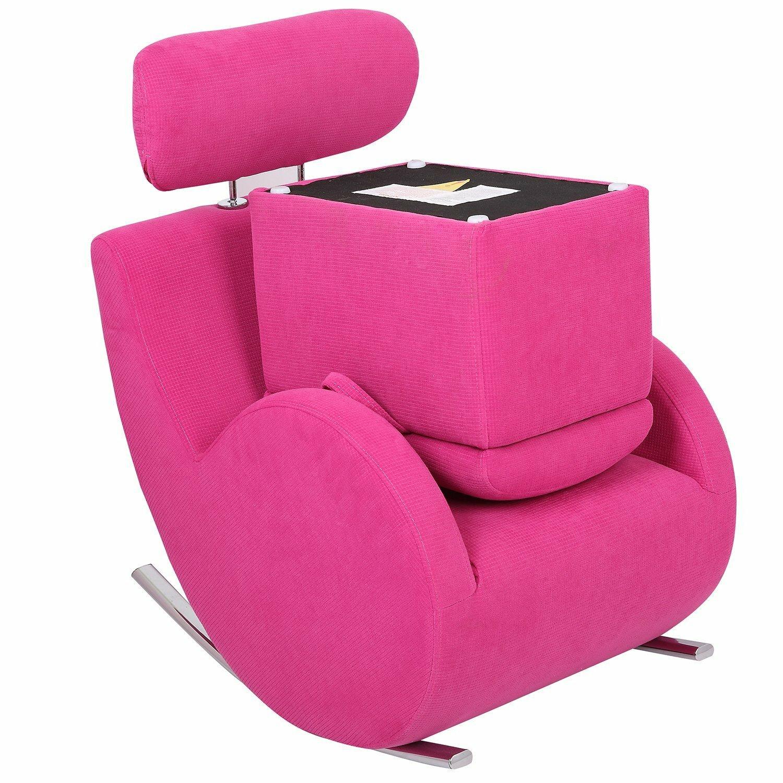 merax kids fabric rocking chair and storage ottoman wayfair