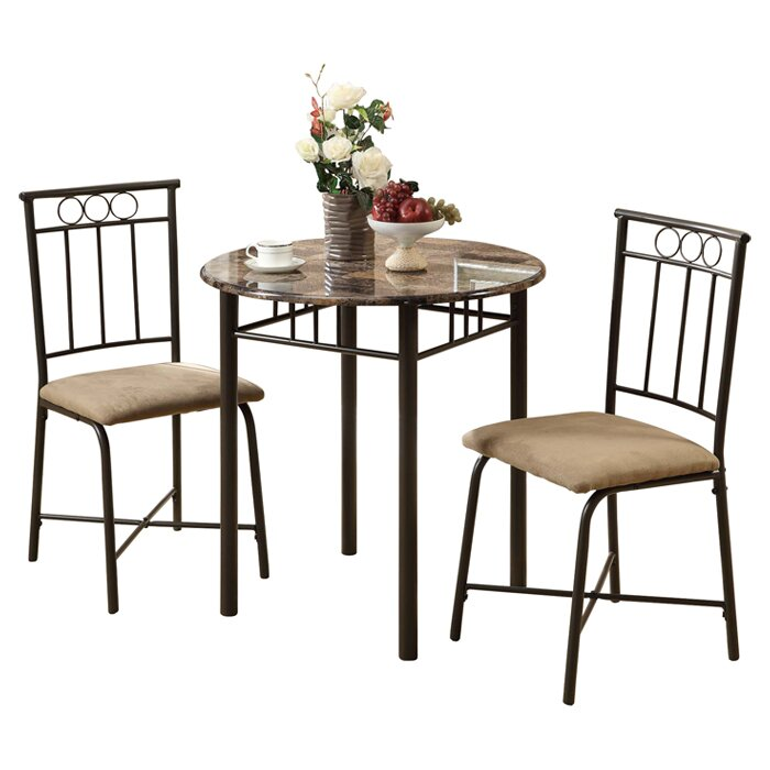 Monarch specialties inc 3 piece dining set ii reviews for 3 piece dining room set